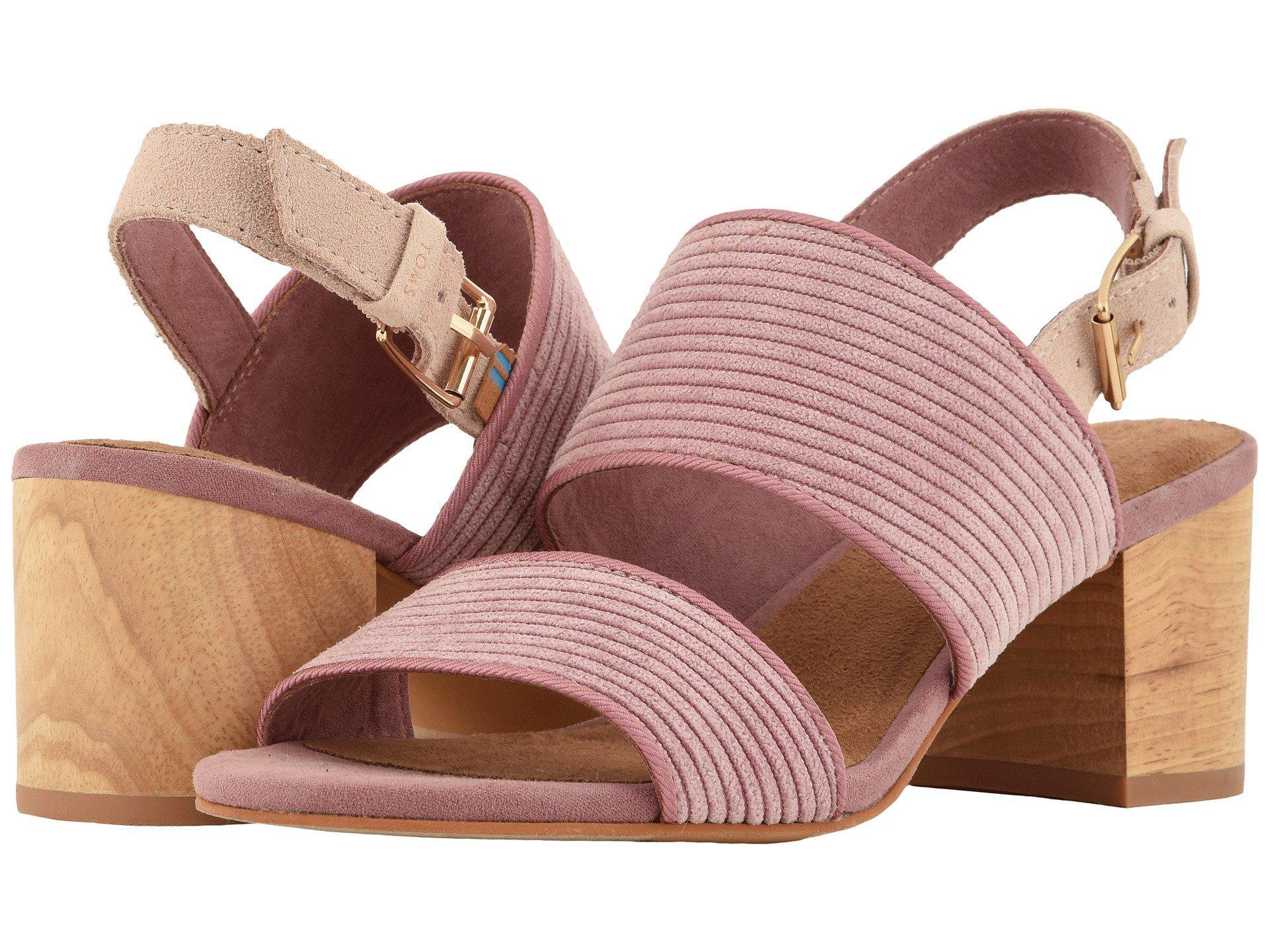5f2a2416801 Lyst - TOMS Poppy (light Mauve Corduroy) Women s Sandals