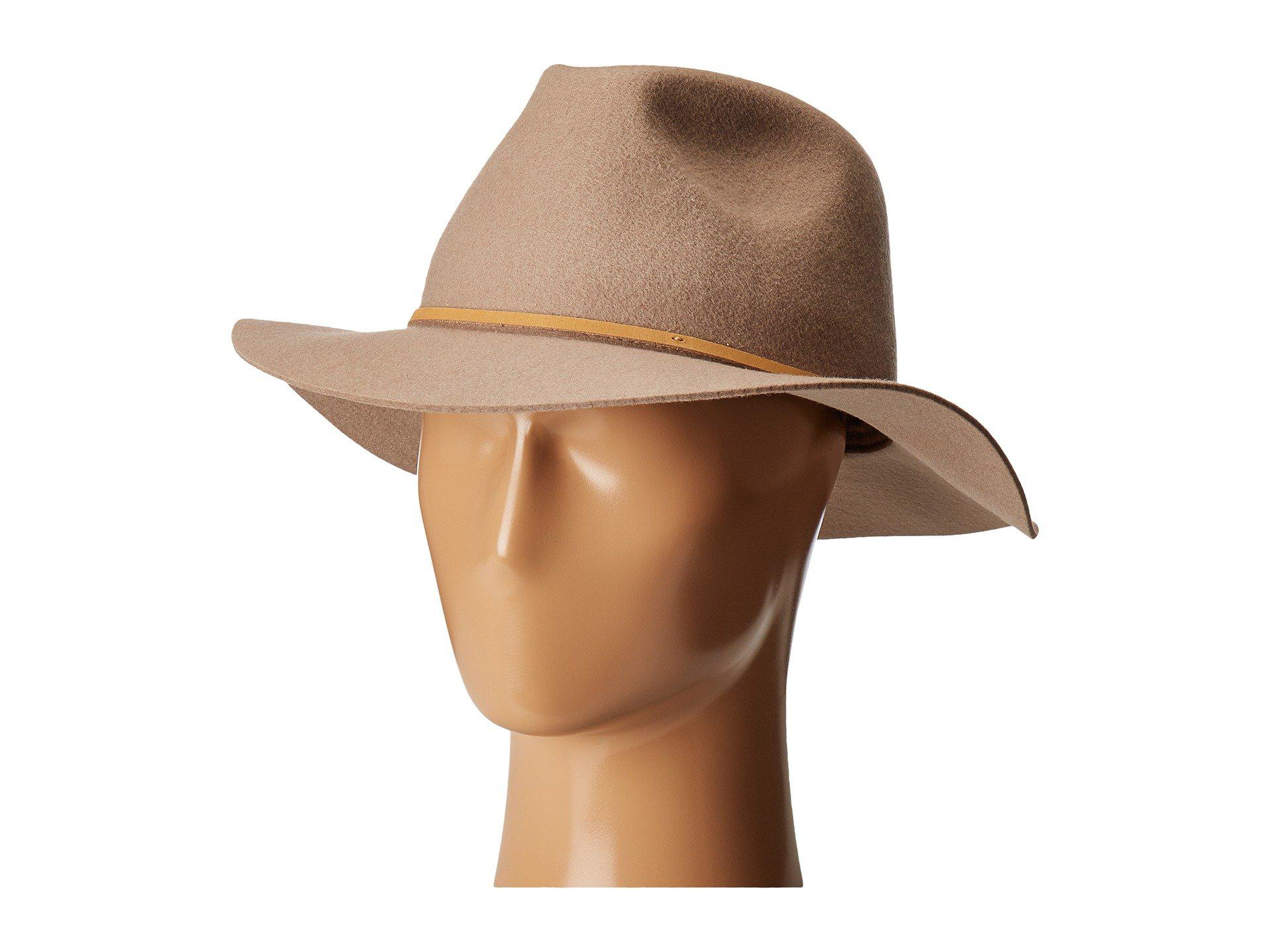 6484156a9ba Lyst - Brixton Wesley Fedora (light Tan) Traditional Hats in Brown