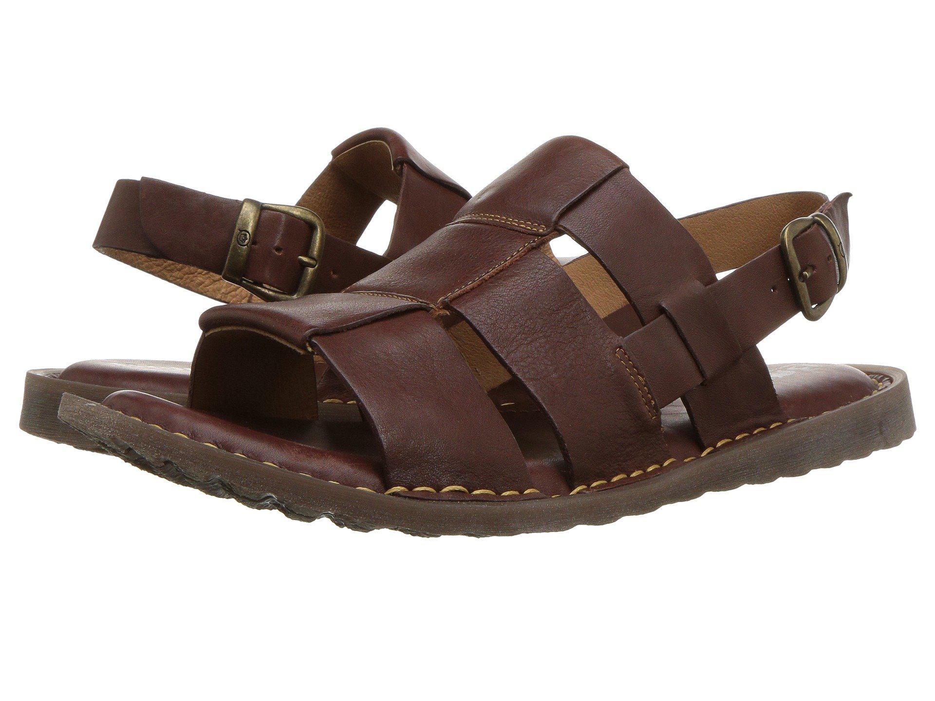 07968649c3e0ce Lyst - Born Surf (black Full Grain Leather) Men s Sandals in Brown