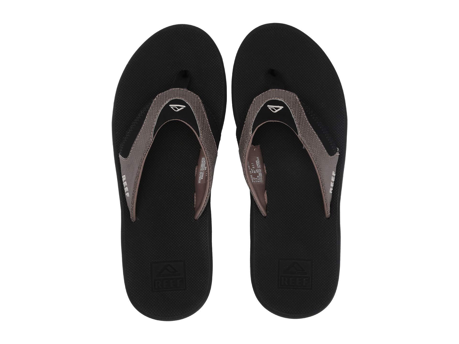 776f26d2cba2 Lyst - Reef Fanning Prints (black Hound) Men s Sandals in Black for Men