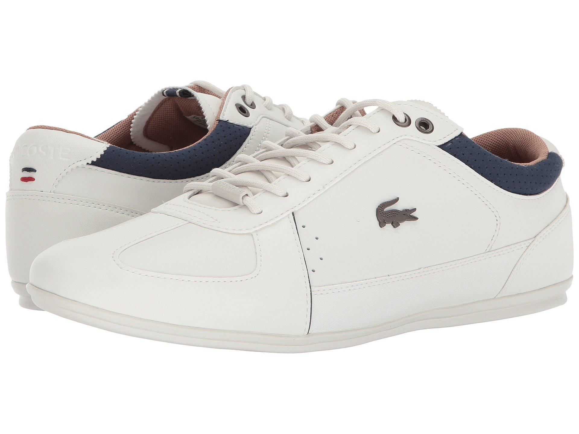 4f2f0dabc157a1 Lyst - Lacoste Evara 118 1 (off-white navy) Men s Shoes in White for Men