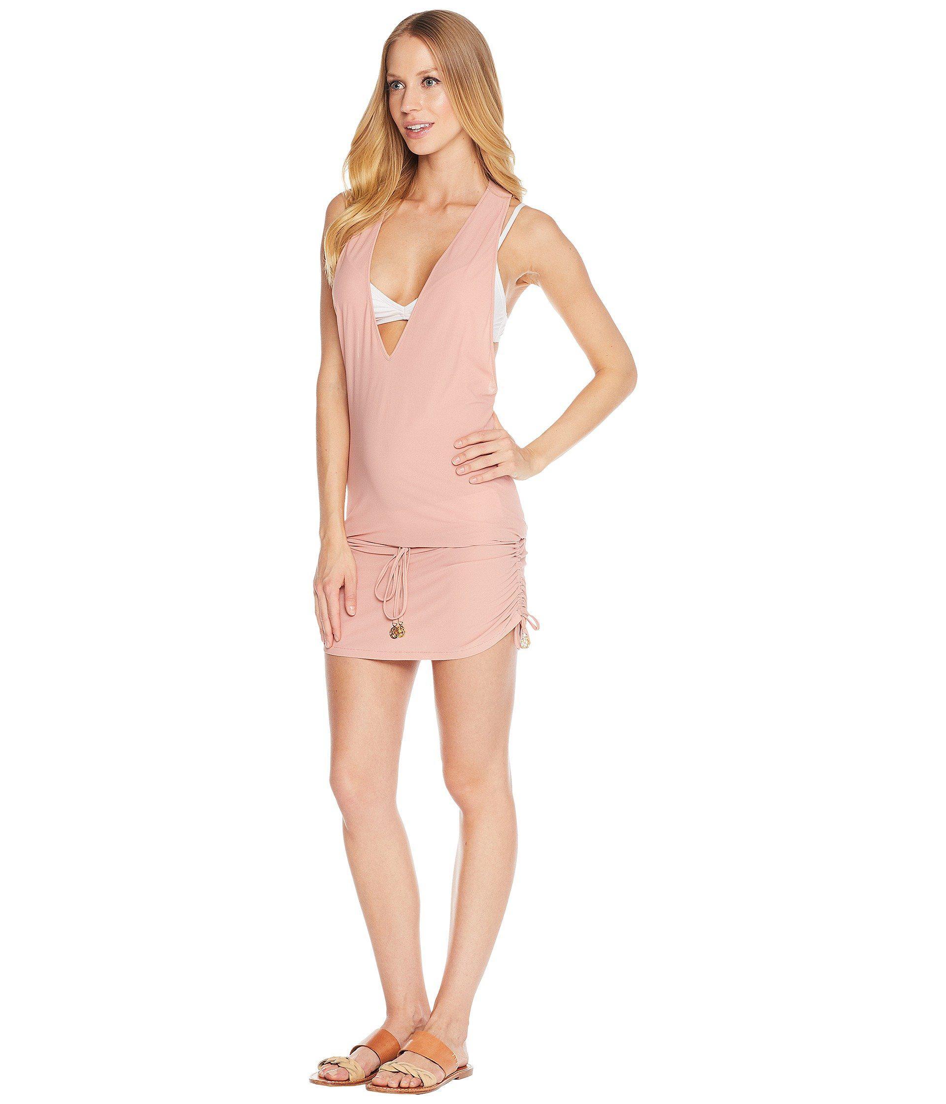 6d18faaa4a46b Lyst - Luli Fama Cosita Buena T-back Mini Dress Cover-up (rosa) Women's  Swimwear in Pink