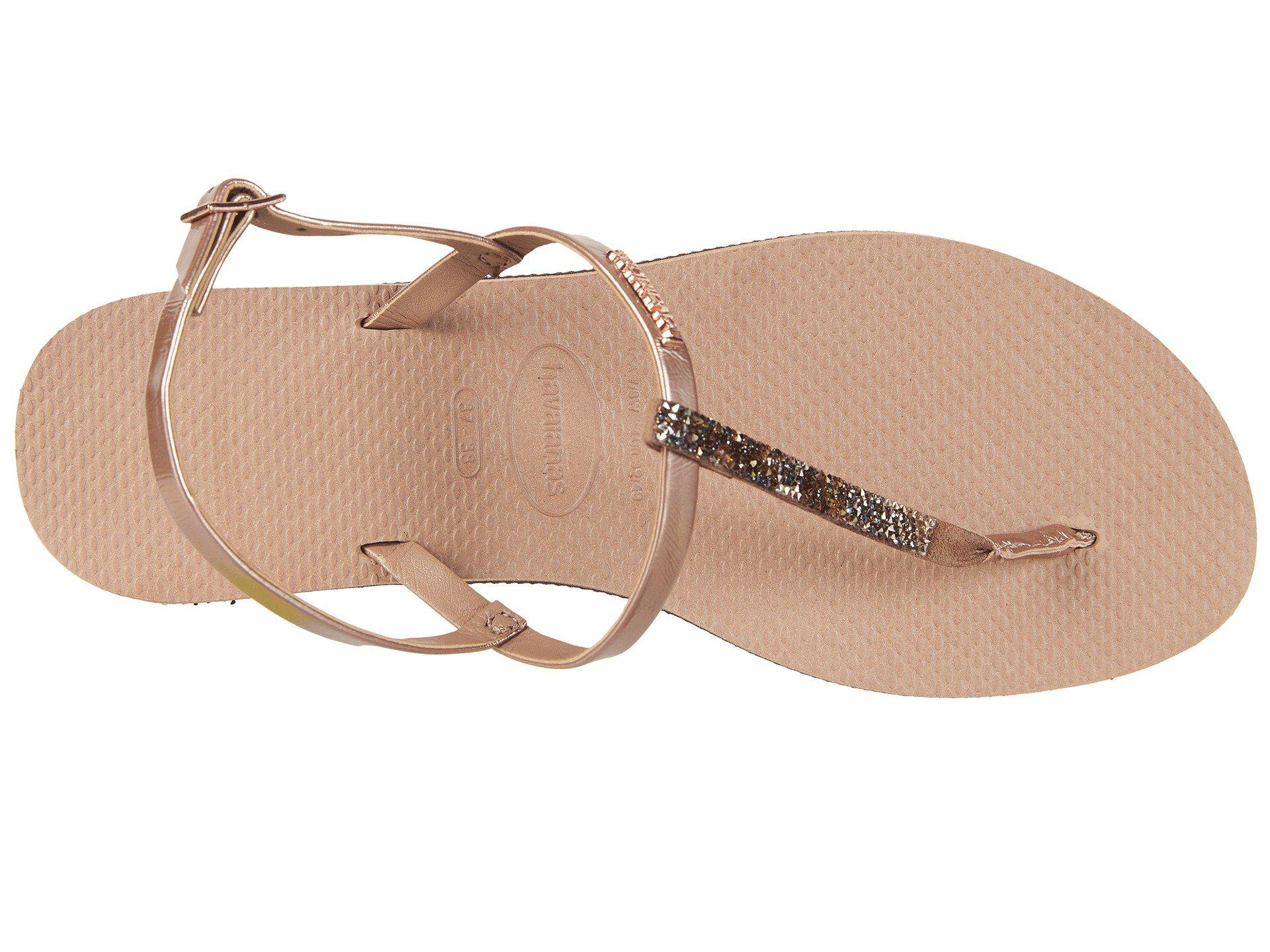 55bb2b6f9e554 Havaianas - Multicolor You Riviera Crystal Sandals (rose Gold) Women s  Slippers - Lyst. View fullscreen