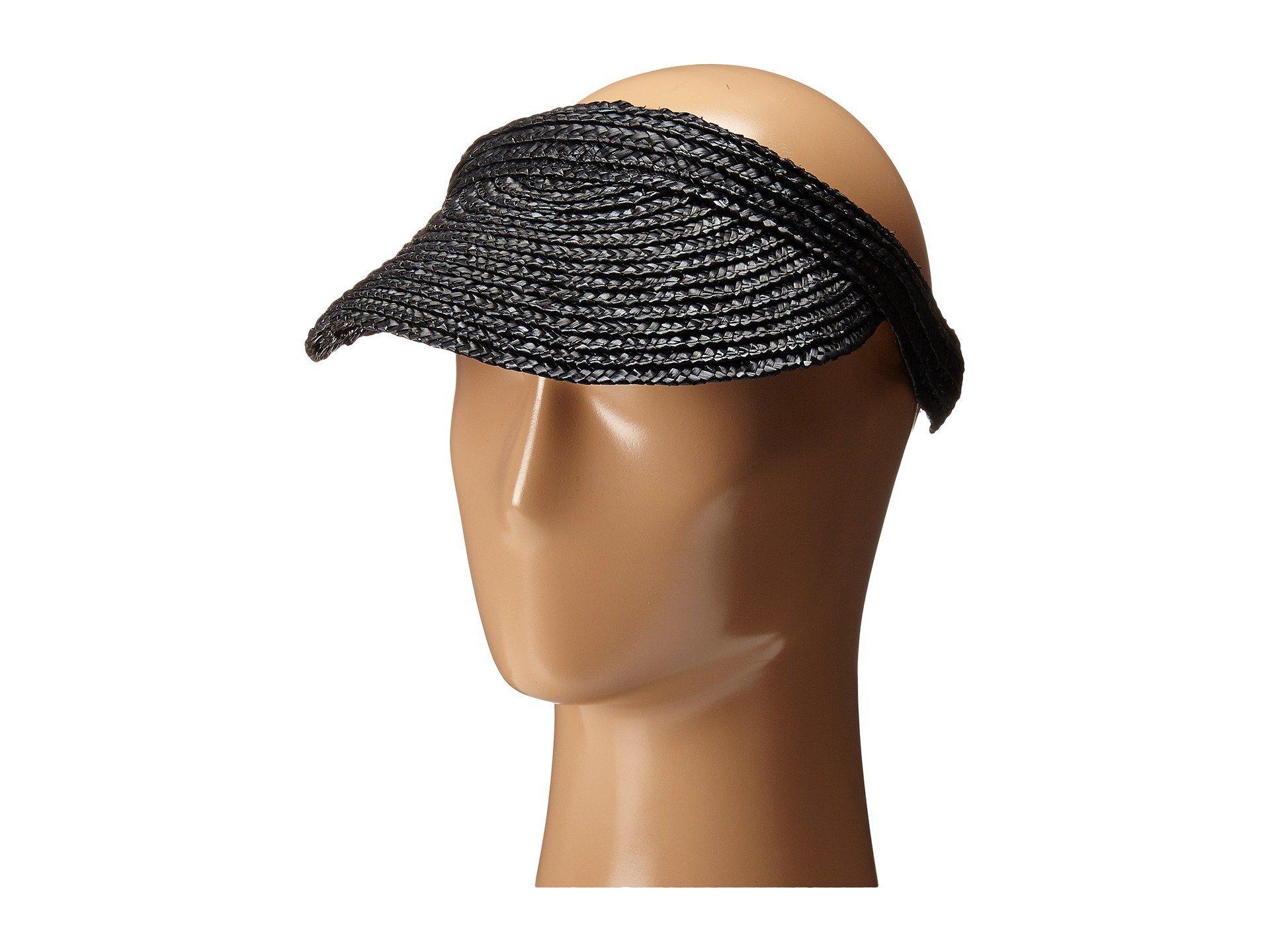 da700736 Lyst - San Diego Hat Company Wsv0004 4 Inch Brim Straw Slip-on Visor ...
