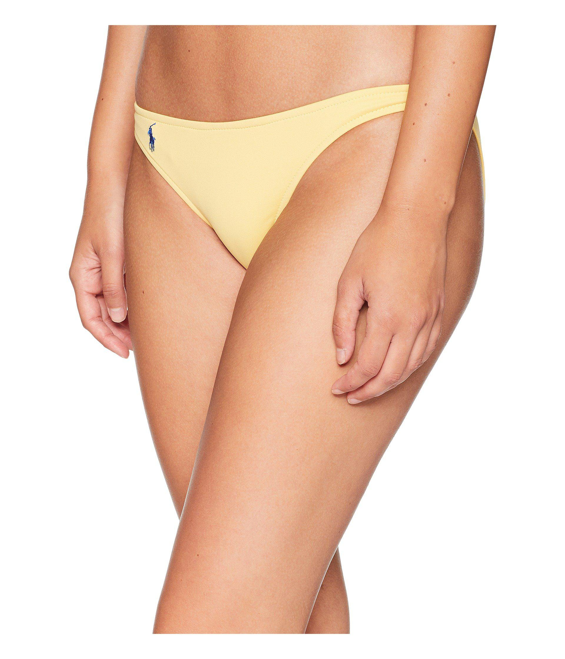 3aba4b75feb69 Lyst - Polo Ralph Lauren Modern Solid Taylor Hipster Bottoms (sun) Women's  Swimwear