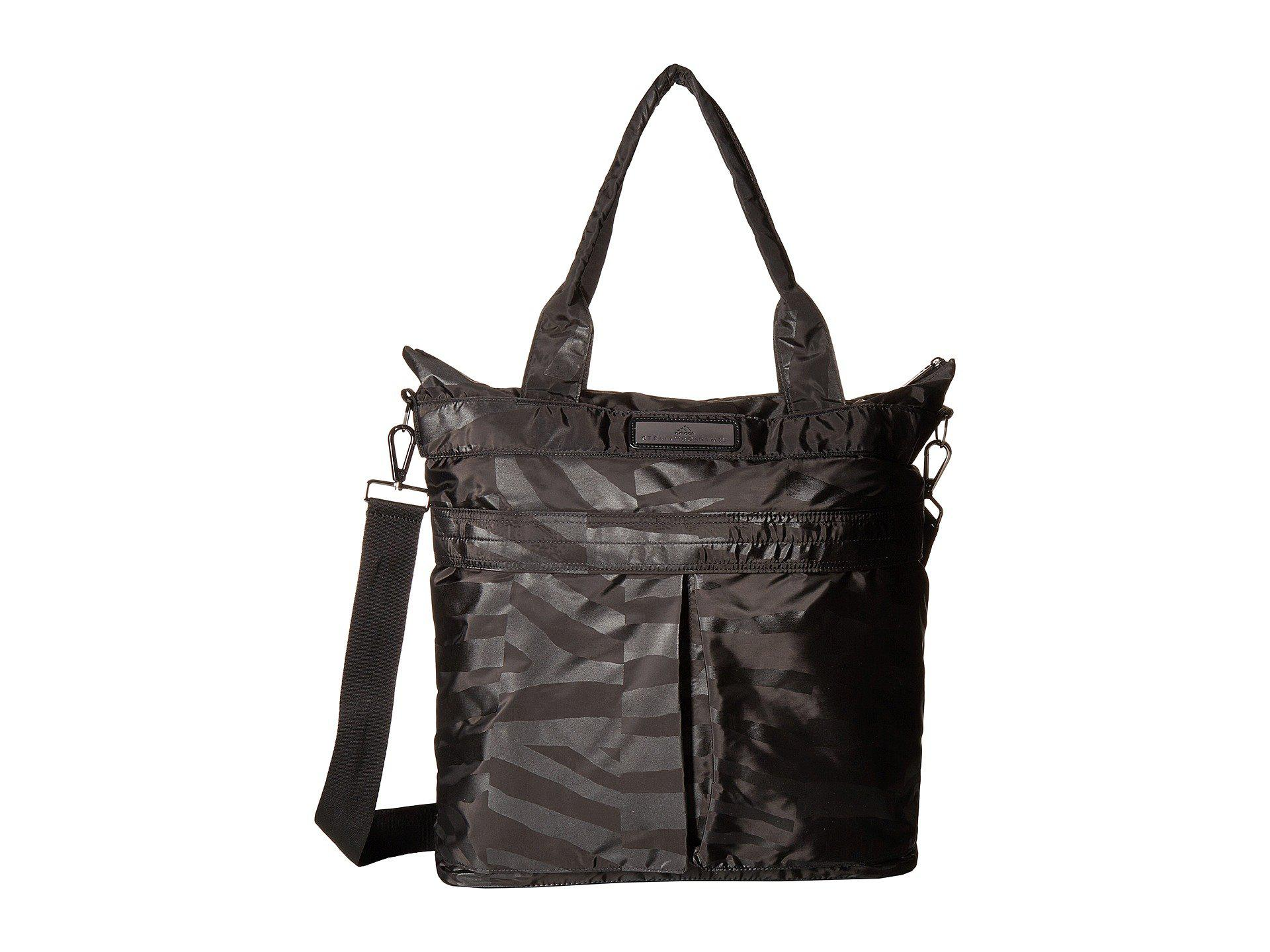 Lyst - adidas By Stella McCartney Essentials Sports Tote in Black 38206c8c6a769