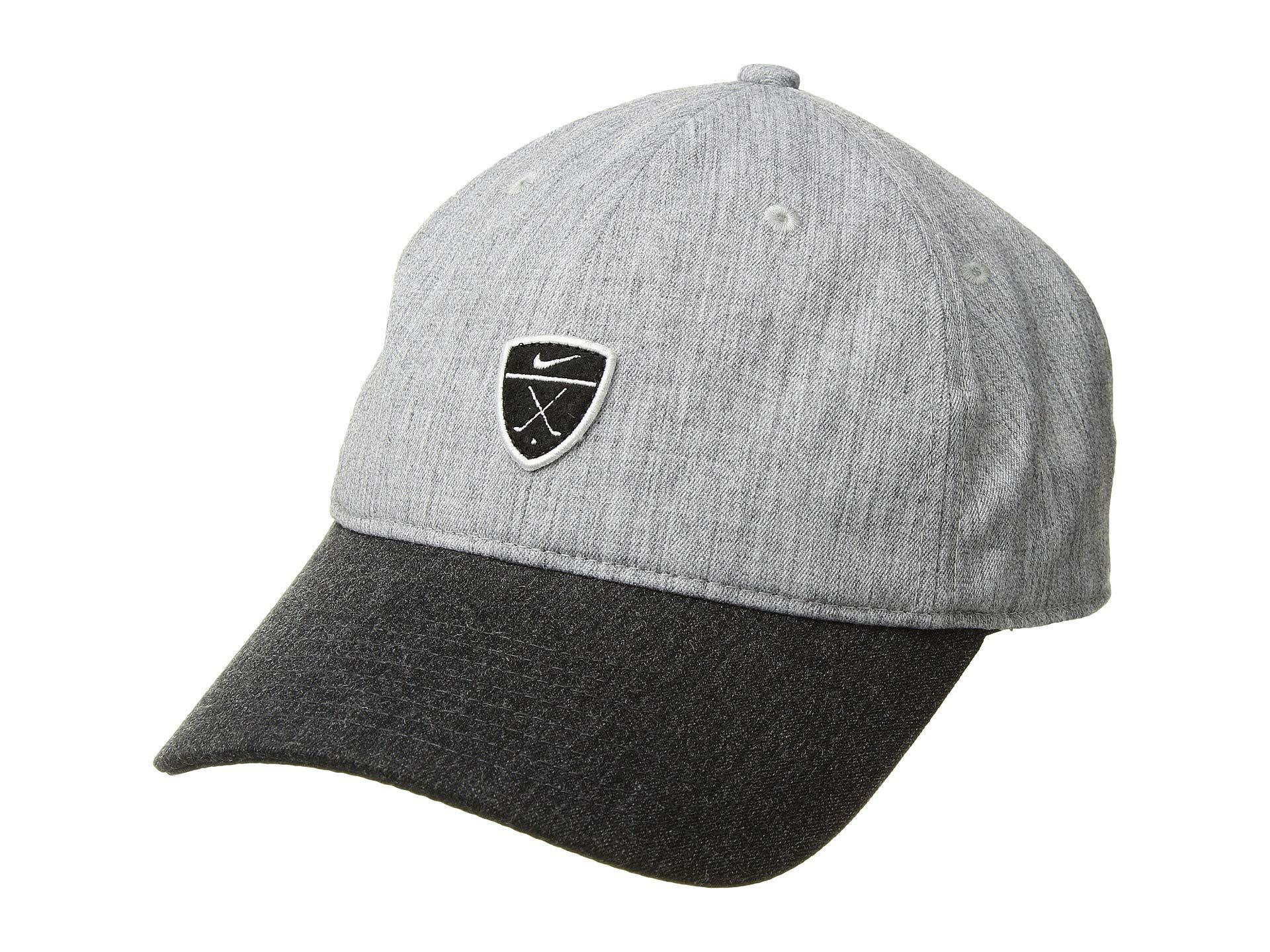 9414b448fb1 Nike. Men s Gray H86 Novelty (charcoal Heather charcoal Heather black) Baseball  Caps