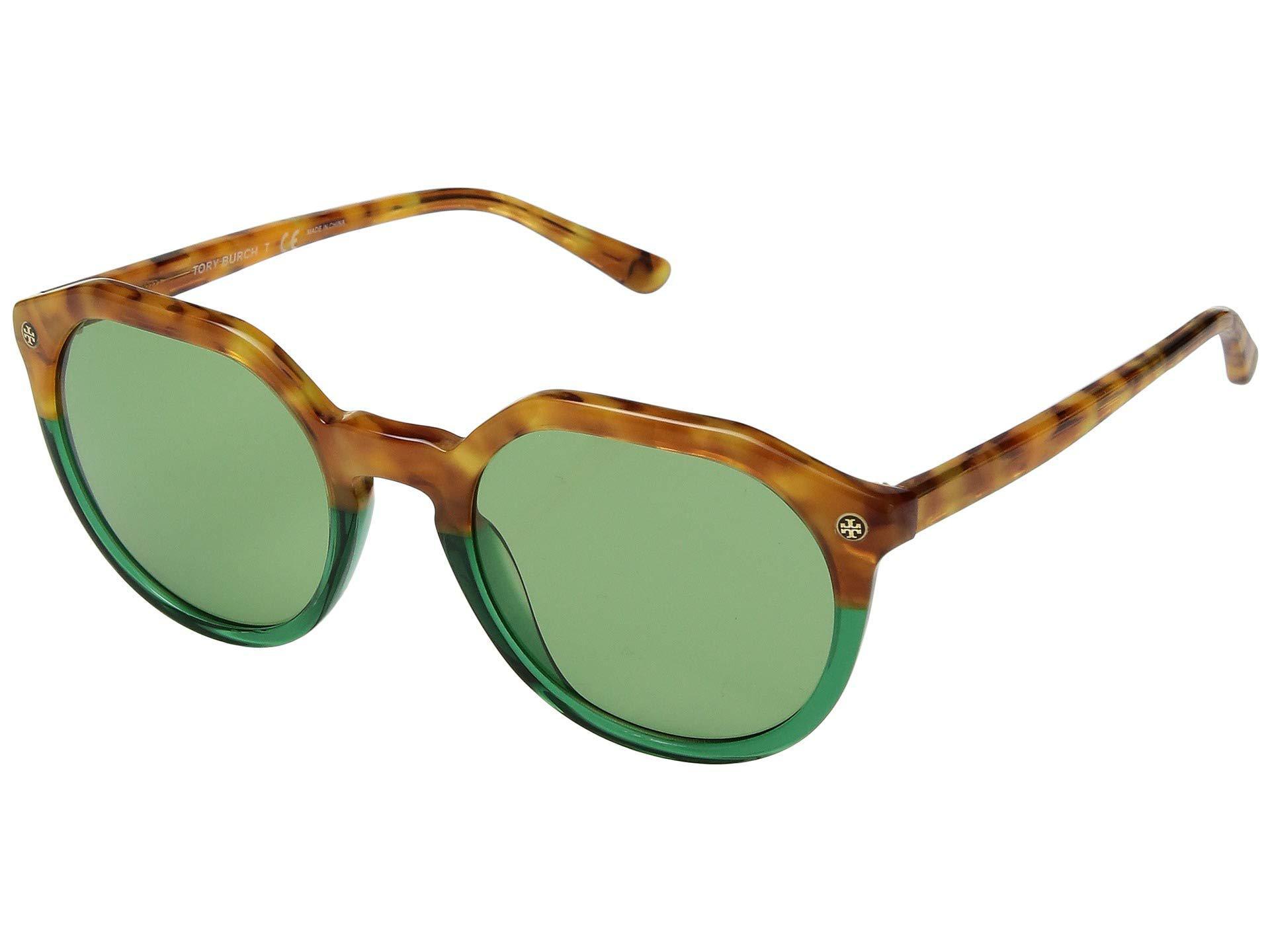 a4532c9ed07b Lyst - Tory Burch 52mm 0ty7130 (amber Tortoise/green Lens) Fashion ...