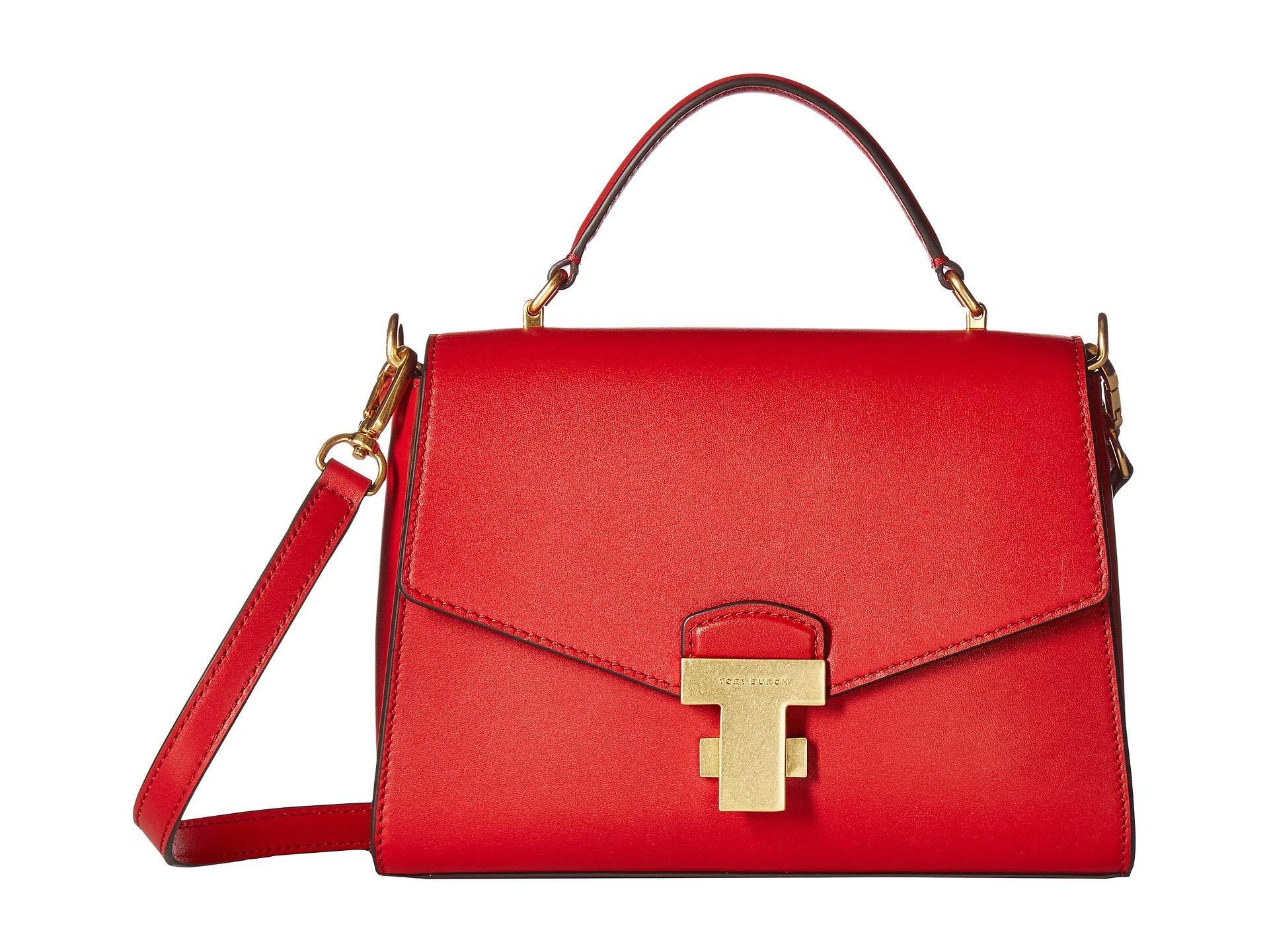 1b78faaeb7f2 Lyst - Tory Burch Juliette Small Top-handle Satchel (ruby Red ...