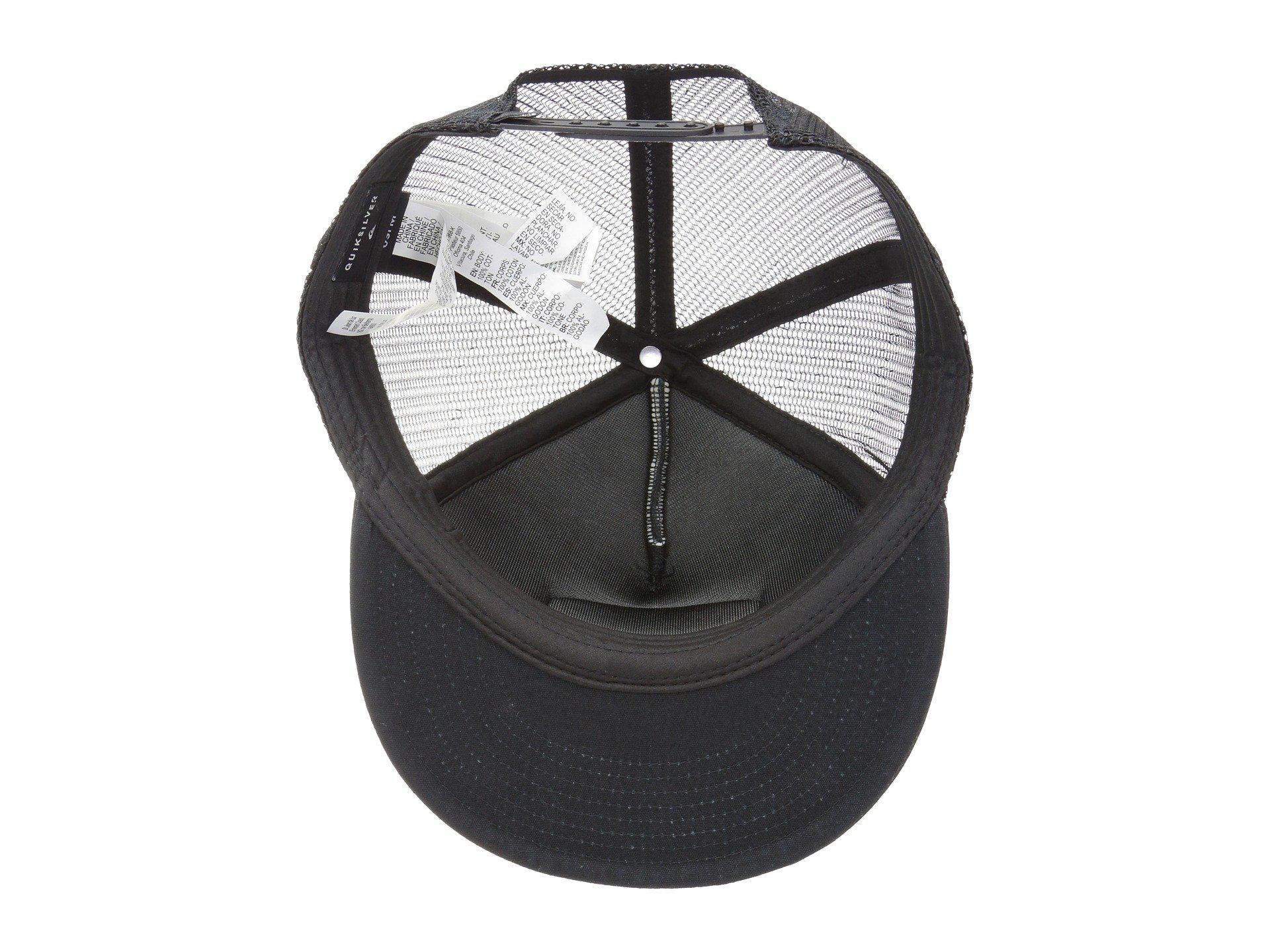 the latest b15c9 68b29 Quiksilver - Black Past Checker Cap (dark Denim) Baseball Caps for Men -  Lyst. View fullscreen
