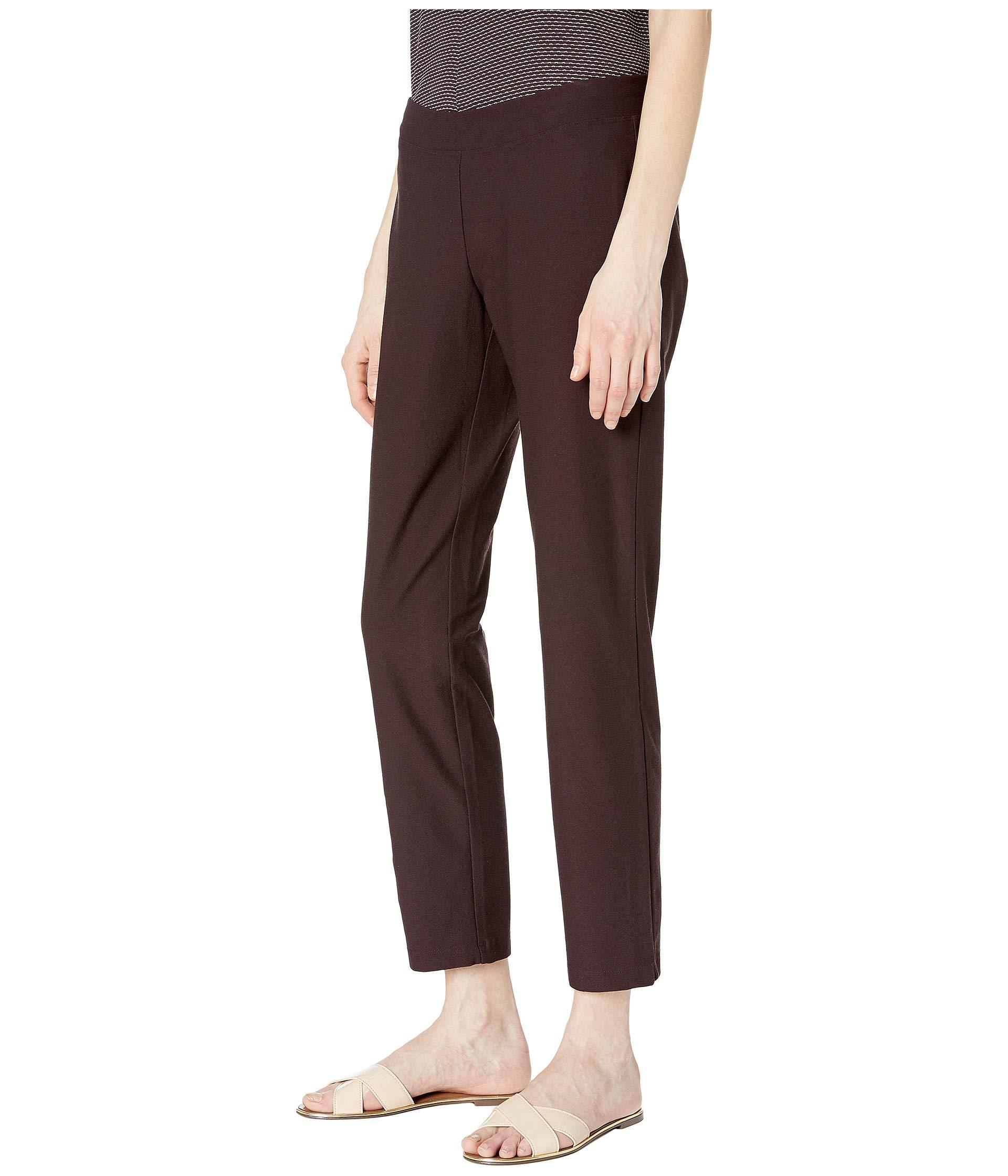 0bd0ca876357 Lyst - Eileen Fisher Slim Ankle Pants (cassis) Women s Casual Pants in Brown