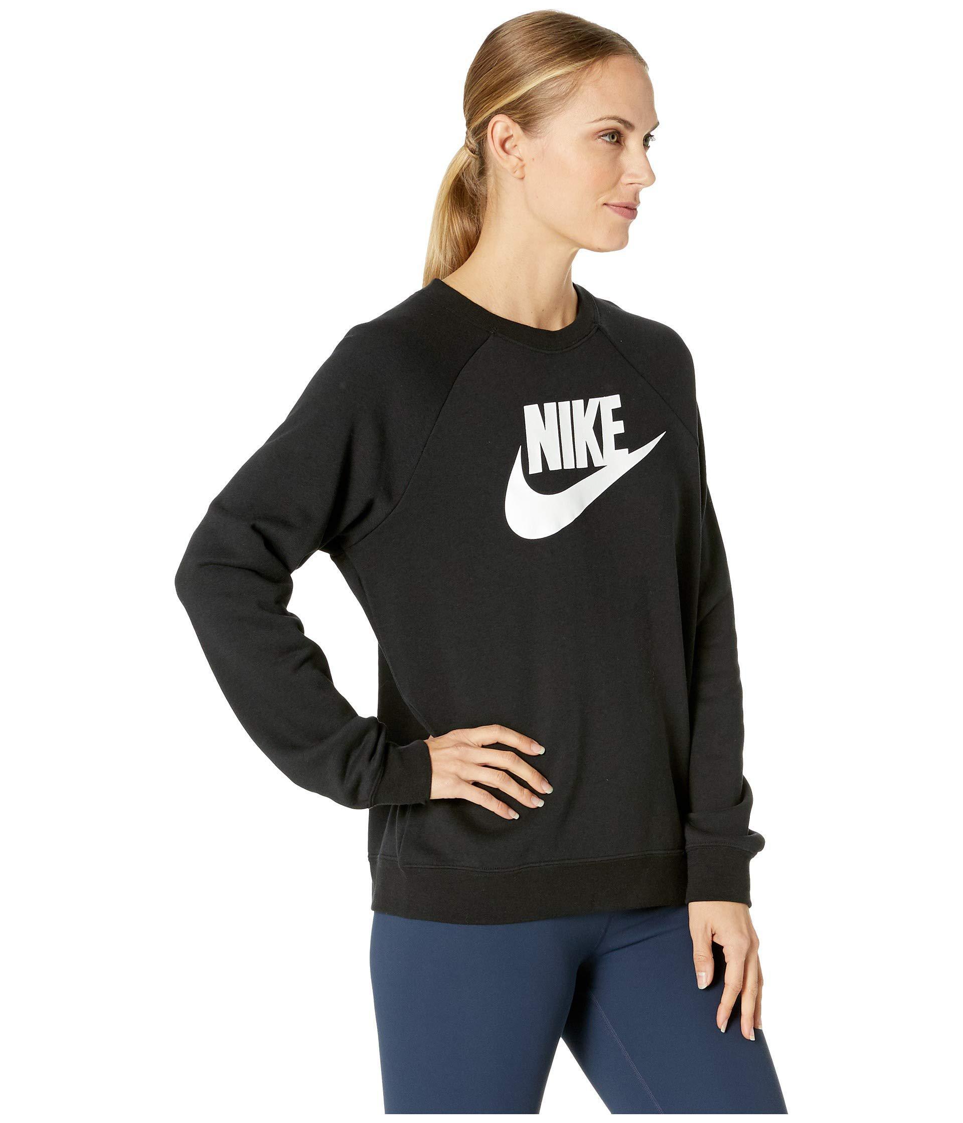 d9f1cf8cc5dd Lyst - Nike Rally Crew Hbr (black white) Women s Long Sleeve ...