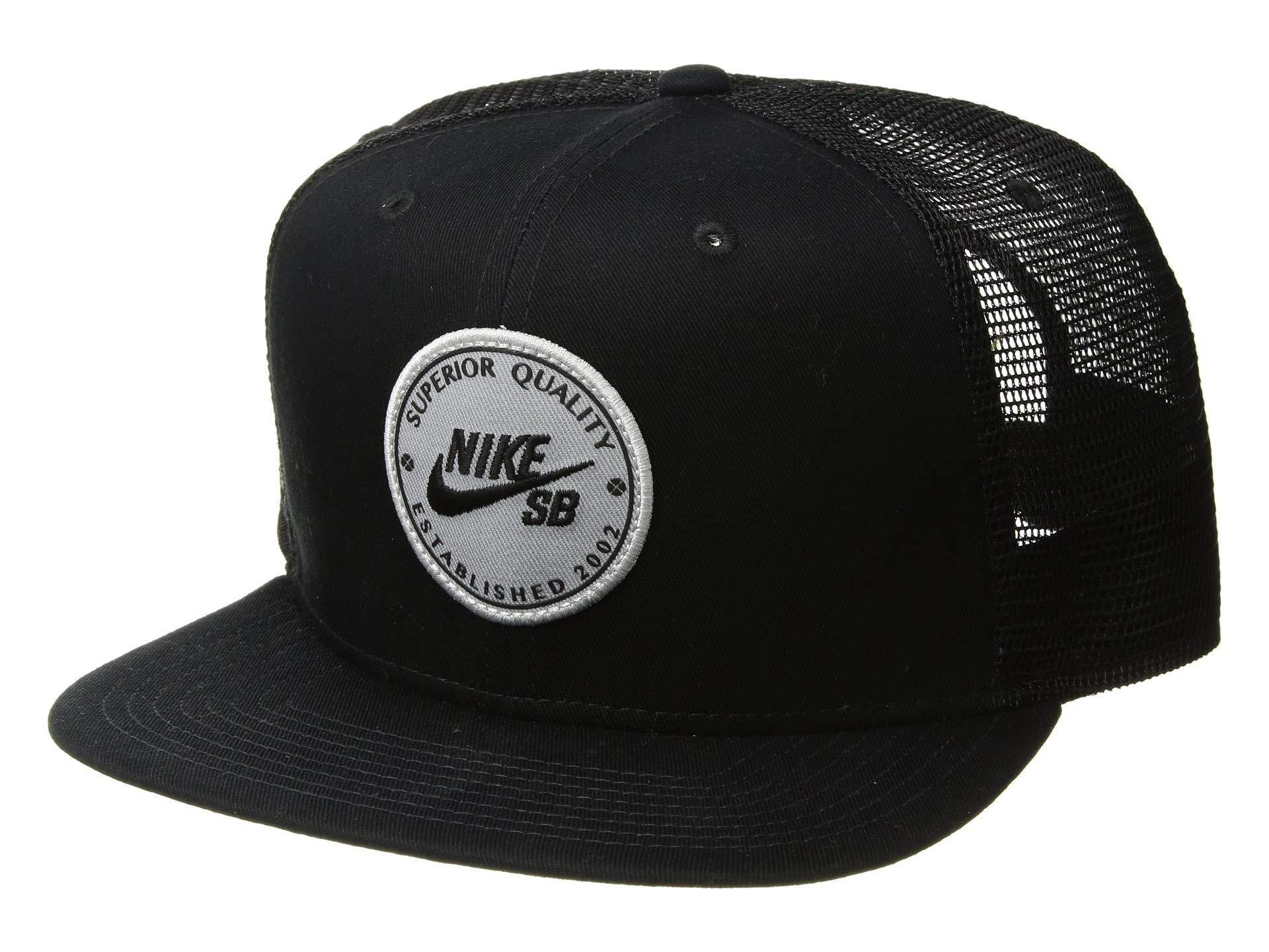 a2c82c5bdd0f2 Nike Pro Cap Patch Trucker (black black pine Green black) Baseball ...