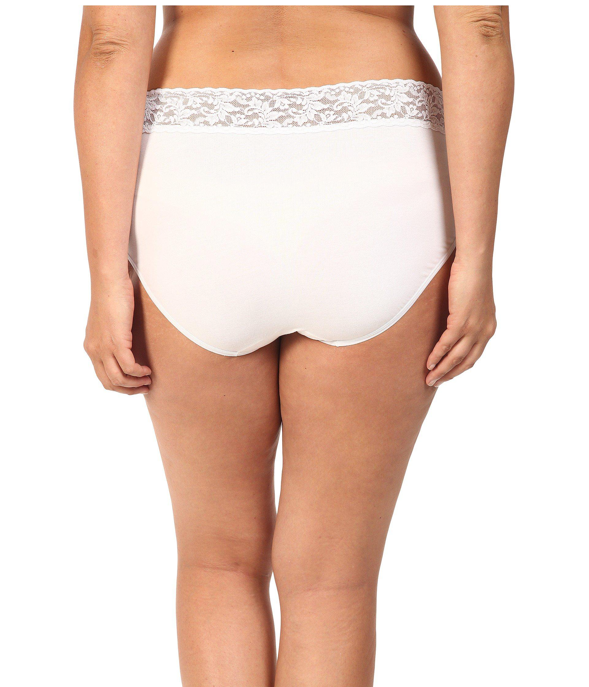 bb989dc80d5 Hanky Panky - White Plus Size Organic Cotton Signature Lace French Brief  (chai) Women s. View fullscreen
