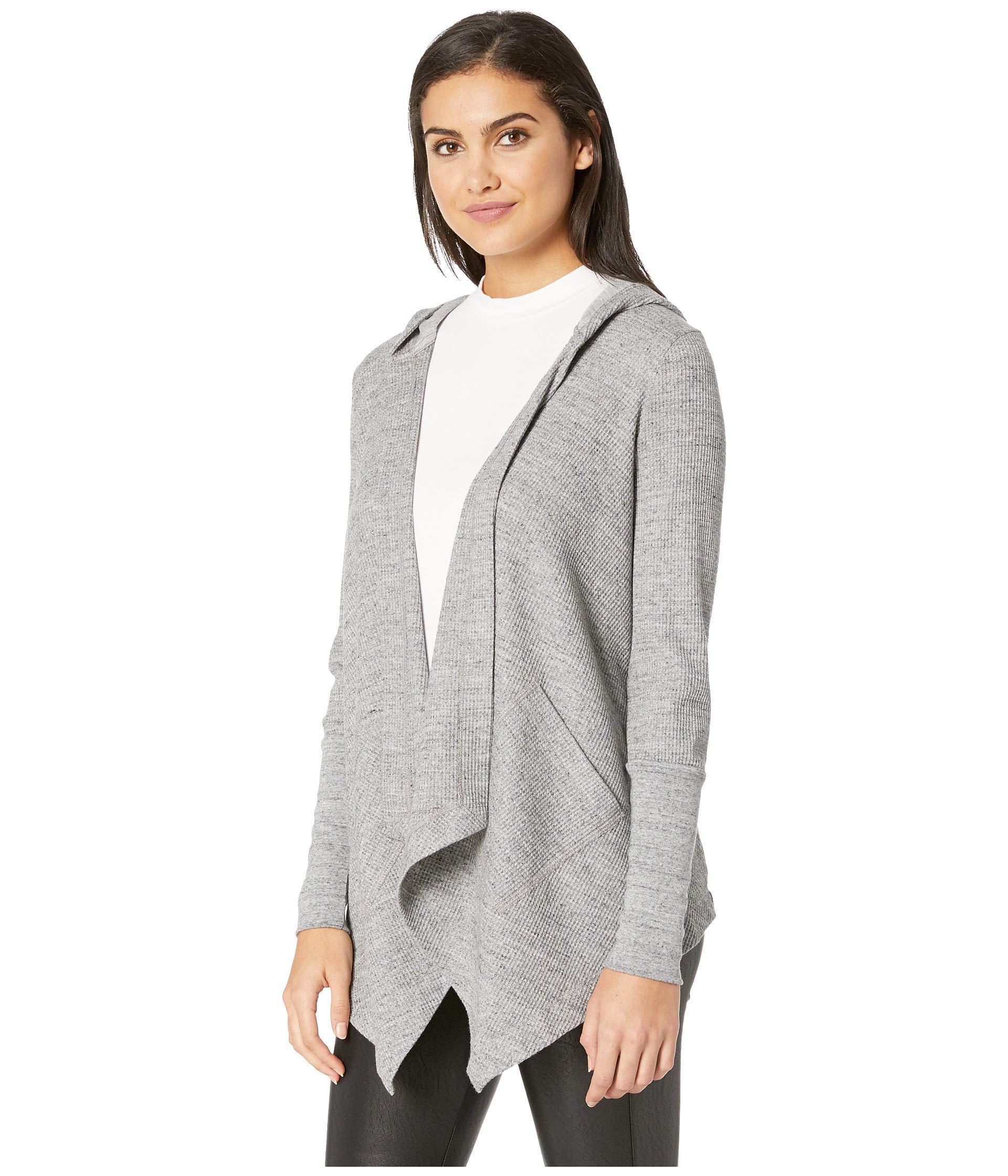 cbbb6790244374 Lyst - Splendid Thermal Flight Cardigan Hoodie (gravel Heather Grey) Women s  Sweater in Gray