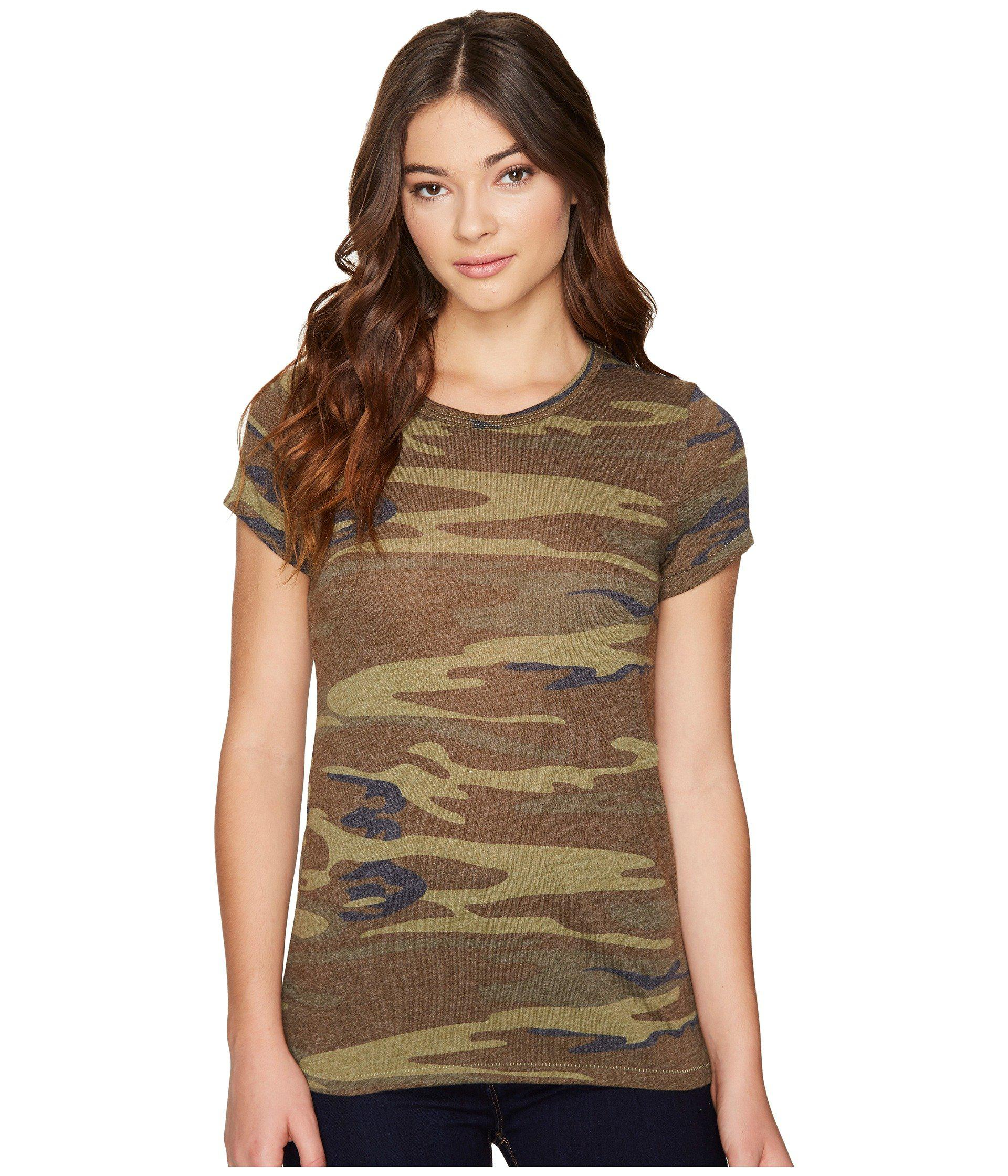 e8e8d6e71 Lyst - Alternative Apparel Ideal Tee (camo) Women's T Shirt in Green ...