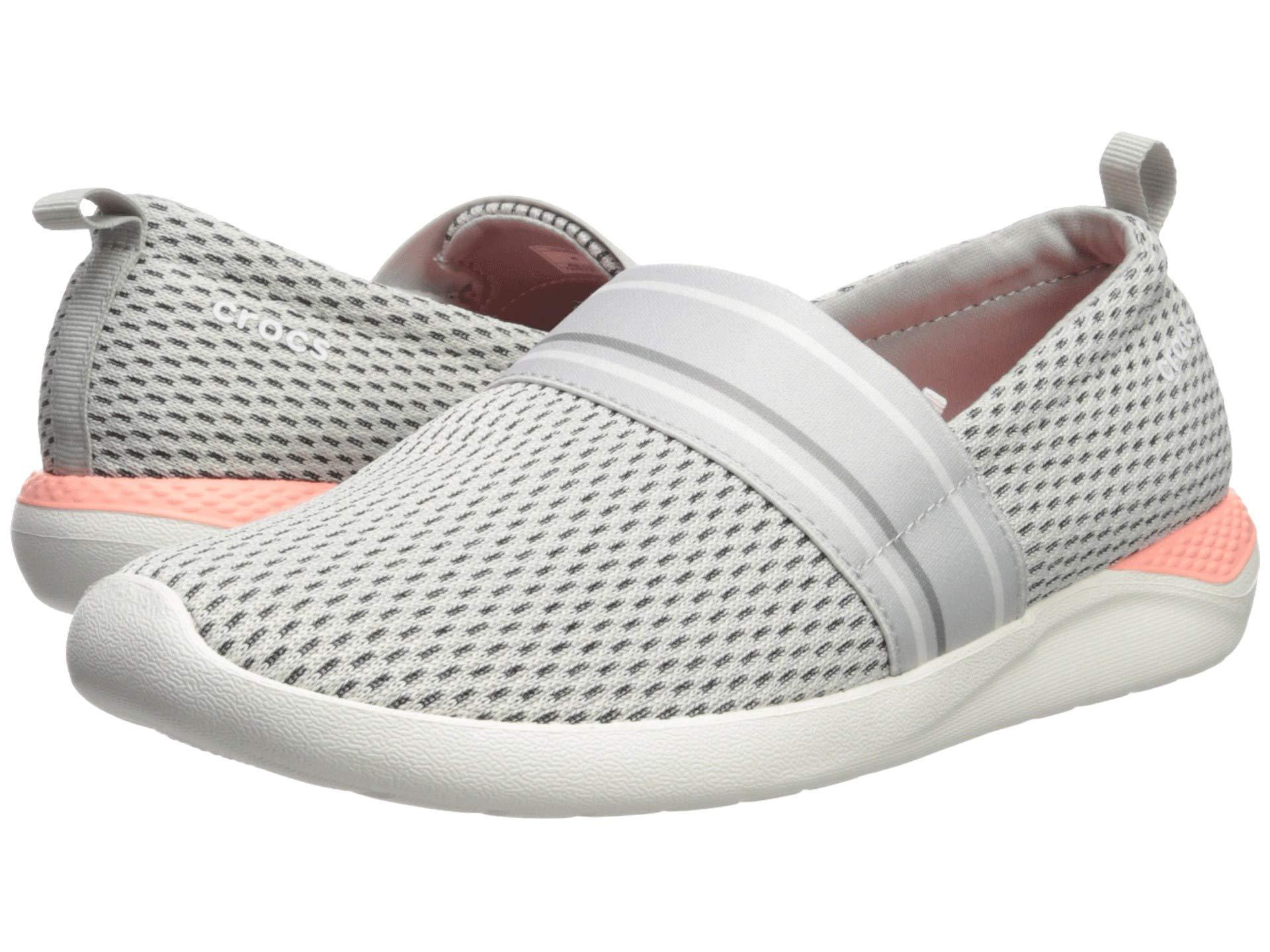 5161b08509 Lyst - Crocs™ Literide Mesh Slip-on Sneaker in White