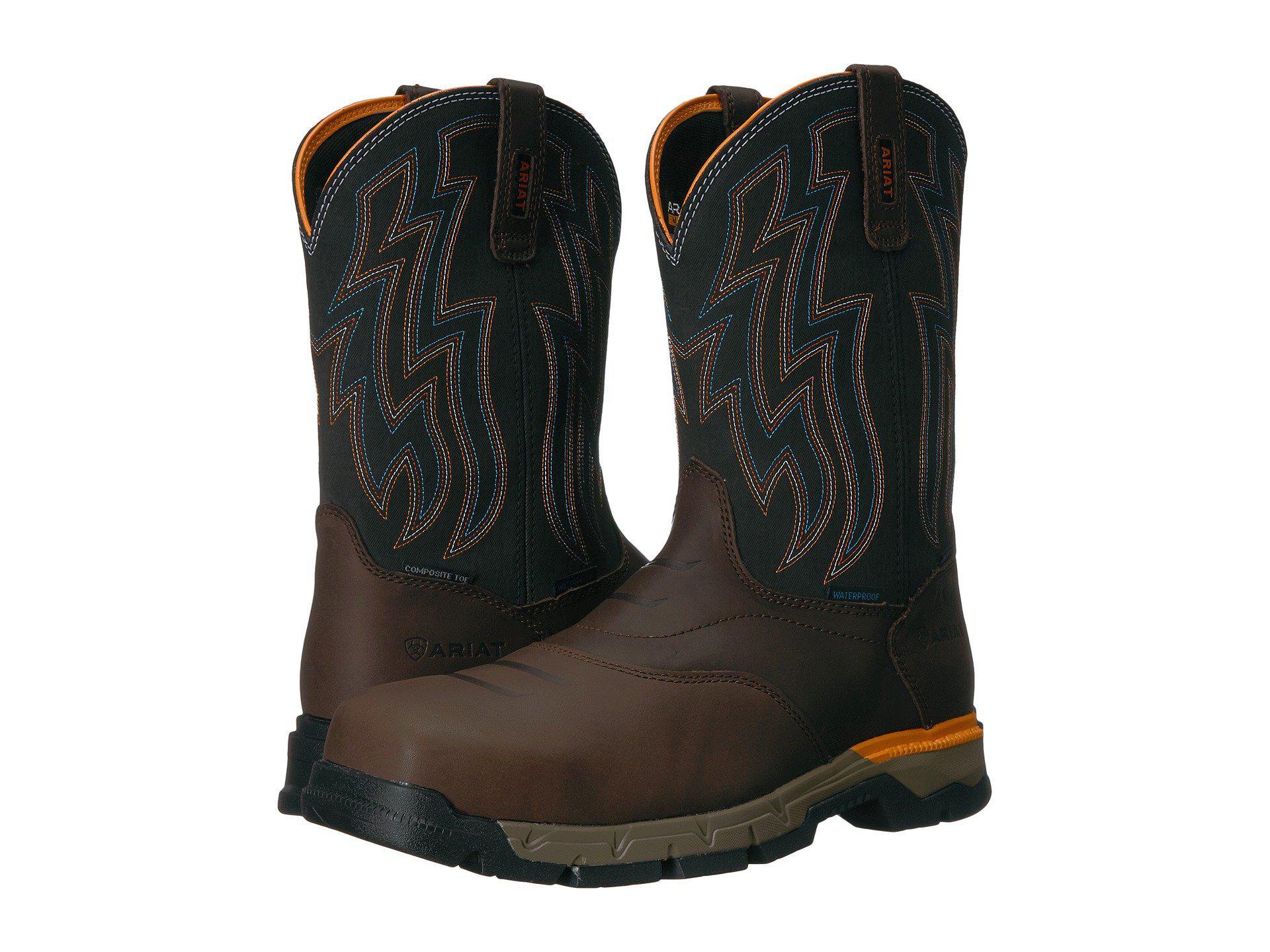 370d3a7d944 Lyst - Ariat Rebar Flex Western H2o Composite Toe (rye Brown/olive ...