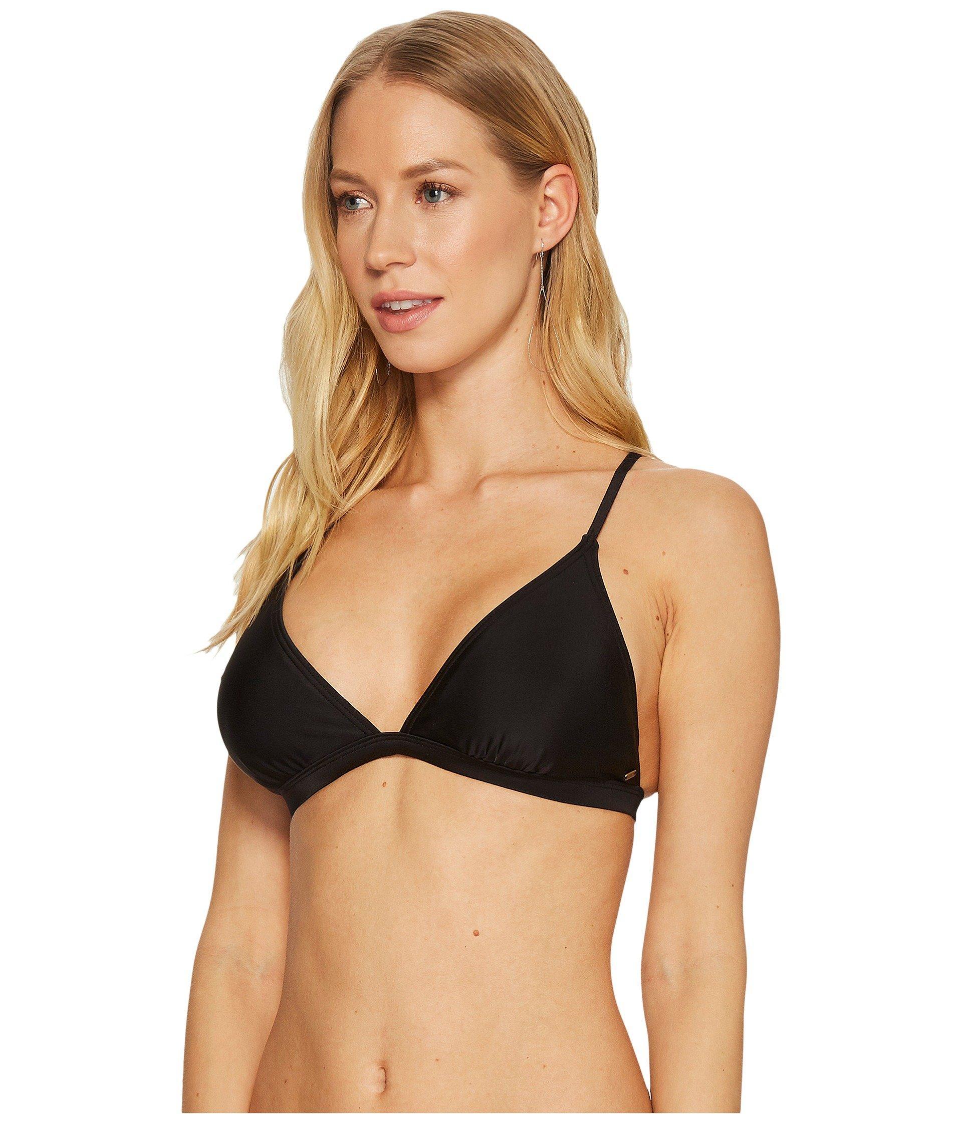 3f758005abe Lyst - Rip Curl Classic Surf Cross Back Bikini Top (black white) Women s  Swimwear in Black - Save 34%