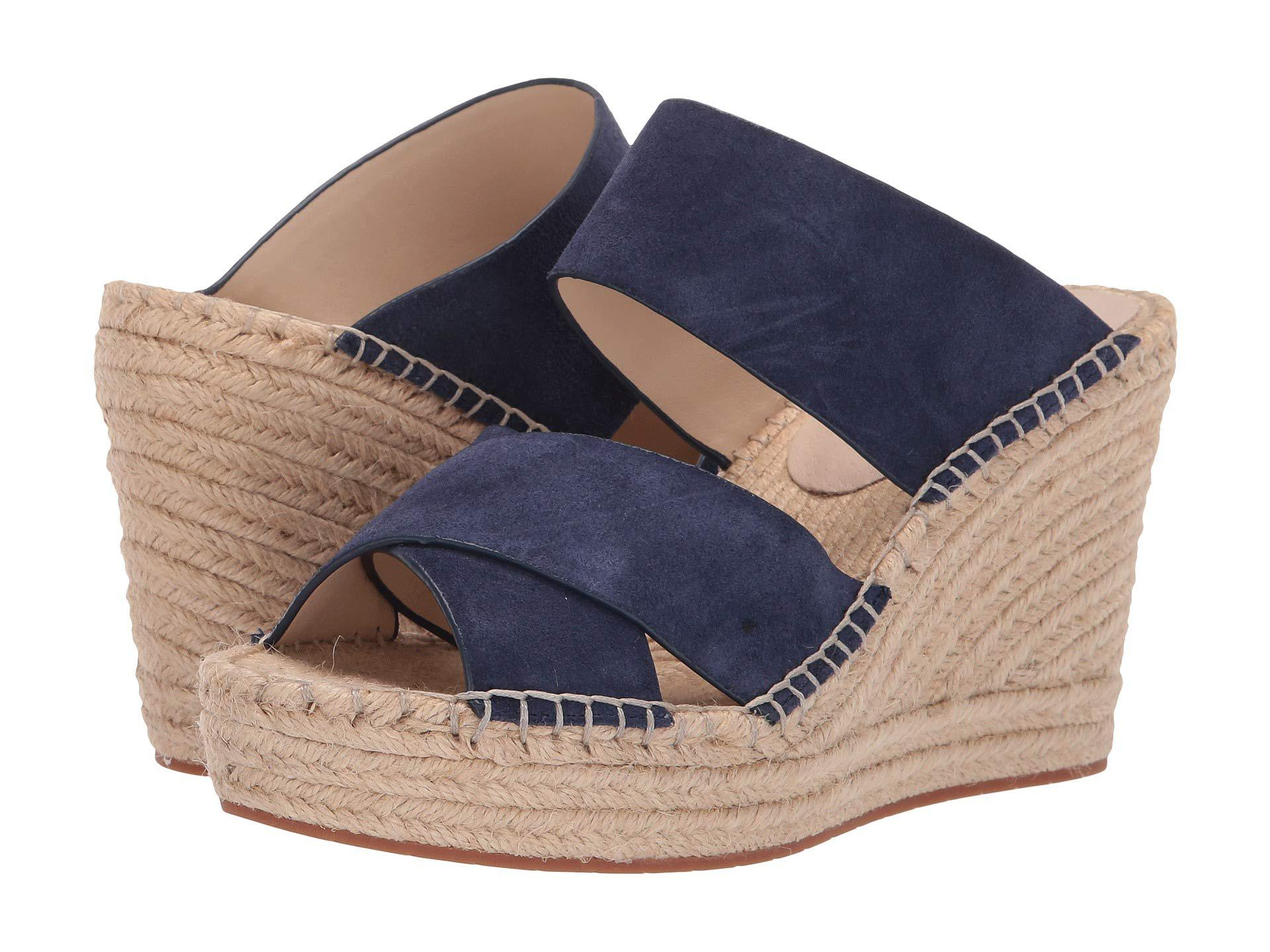 9c08c30bcbe Lyst - Kenneth Cole Olivia X Band (grey Suede) Women s Shoes in Blue ...