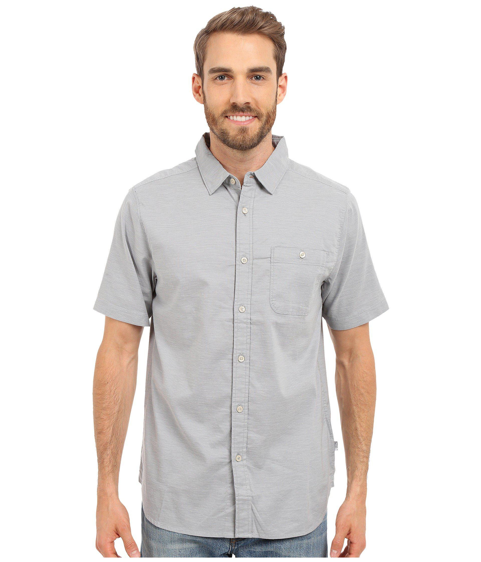 7b05c7bab Lyst - The North Face Short Sleeve Red Point Shirt in Gray for Men