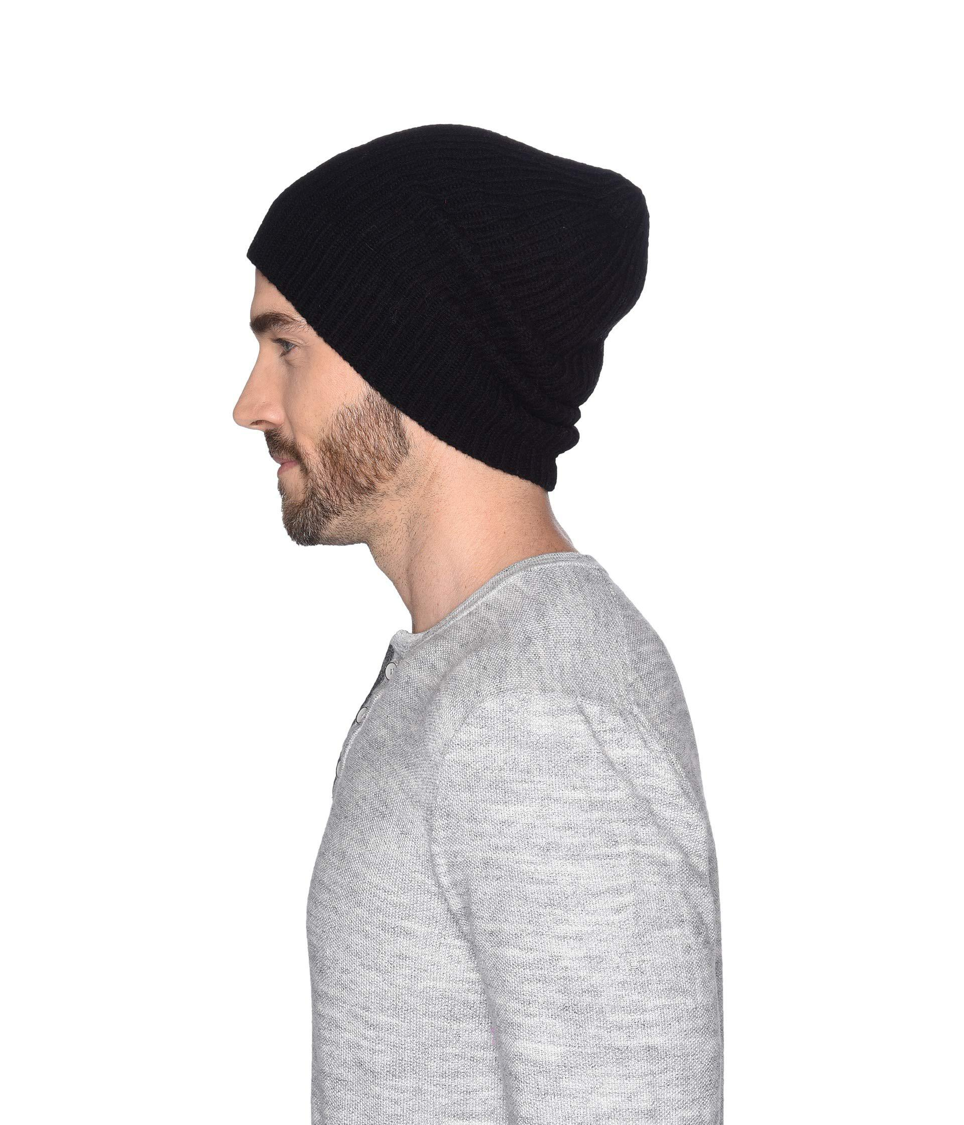 36604cb9 UGG Stonewashed Cuff Knit Hat (black) Beanies in Black for Men - Lyst