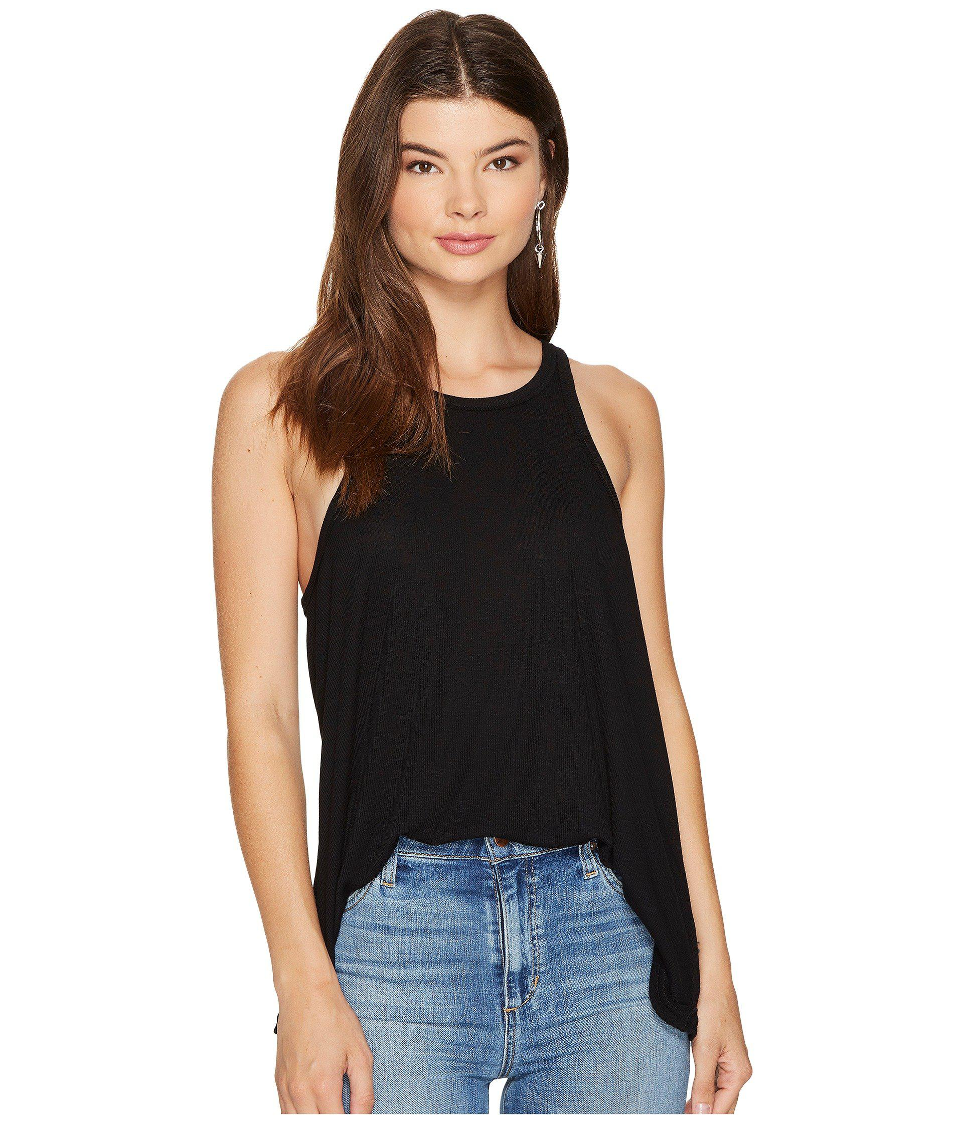 127b2c13086a4 Lyst - Free People Long Beach Tank Top (black) Women s Sleeveless in ...