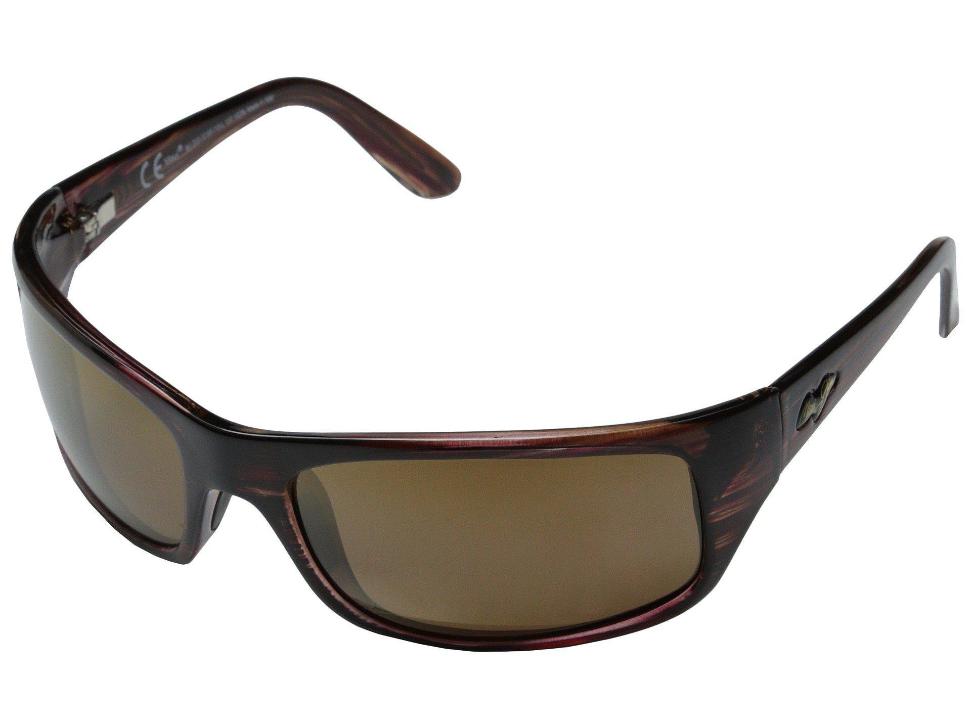 d122f9631a0 Lyst - Maui Jim Peahi (gloss Black neutral Grey Lens) Plastic Frame ...