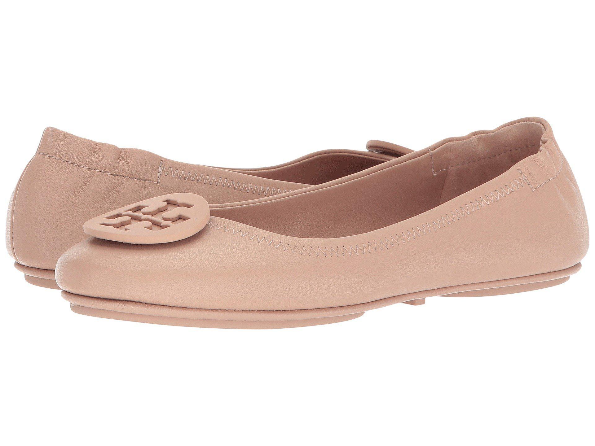 b99e0dc0695e Lyst - Tory Burch Minnie Travel Ballet Flat (black gold) Women s Shoes