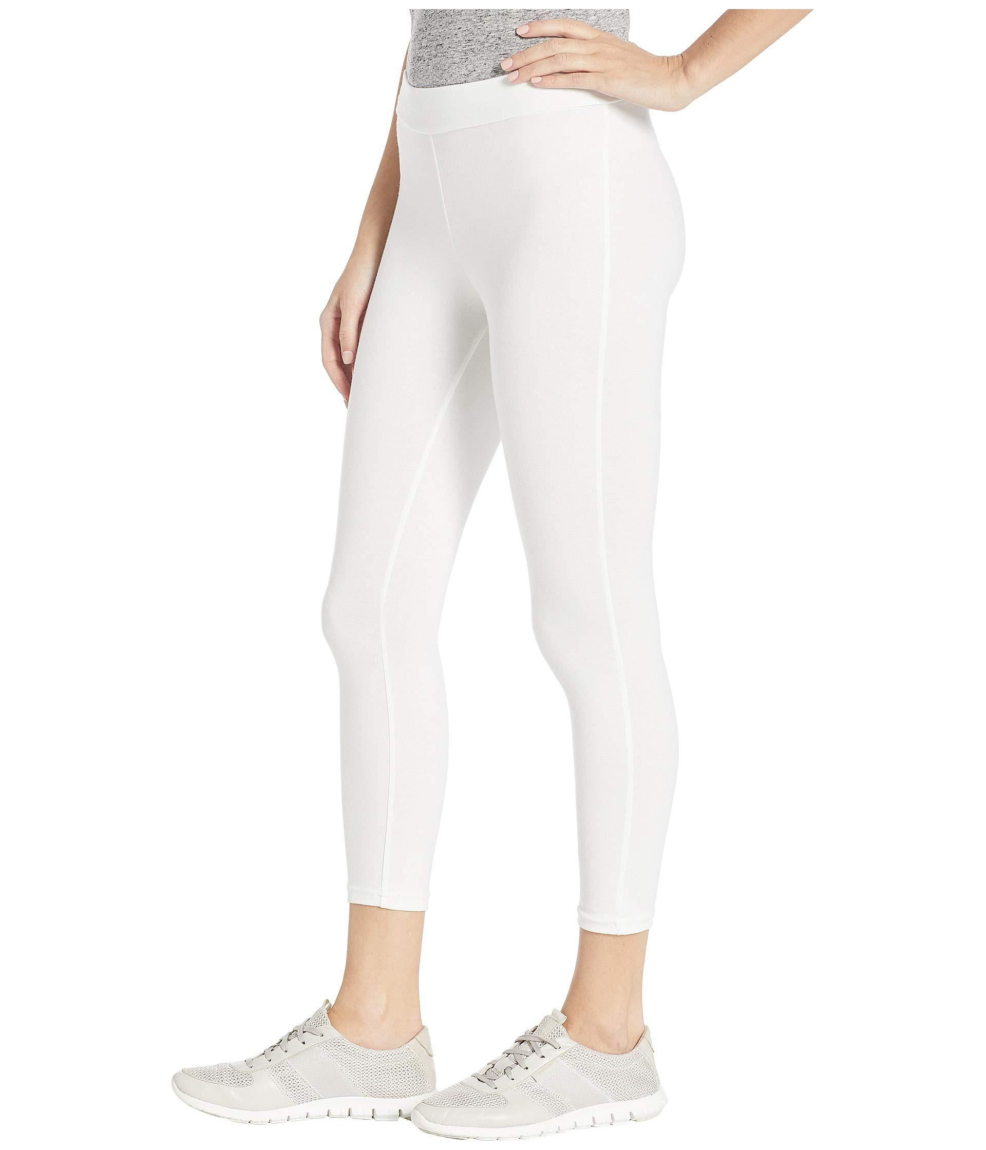 427e8349411 Lyst - Hue Wide Waistband Blackout Cotton Capri Leggings (black) Women s  Casual Pants in White