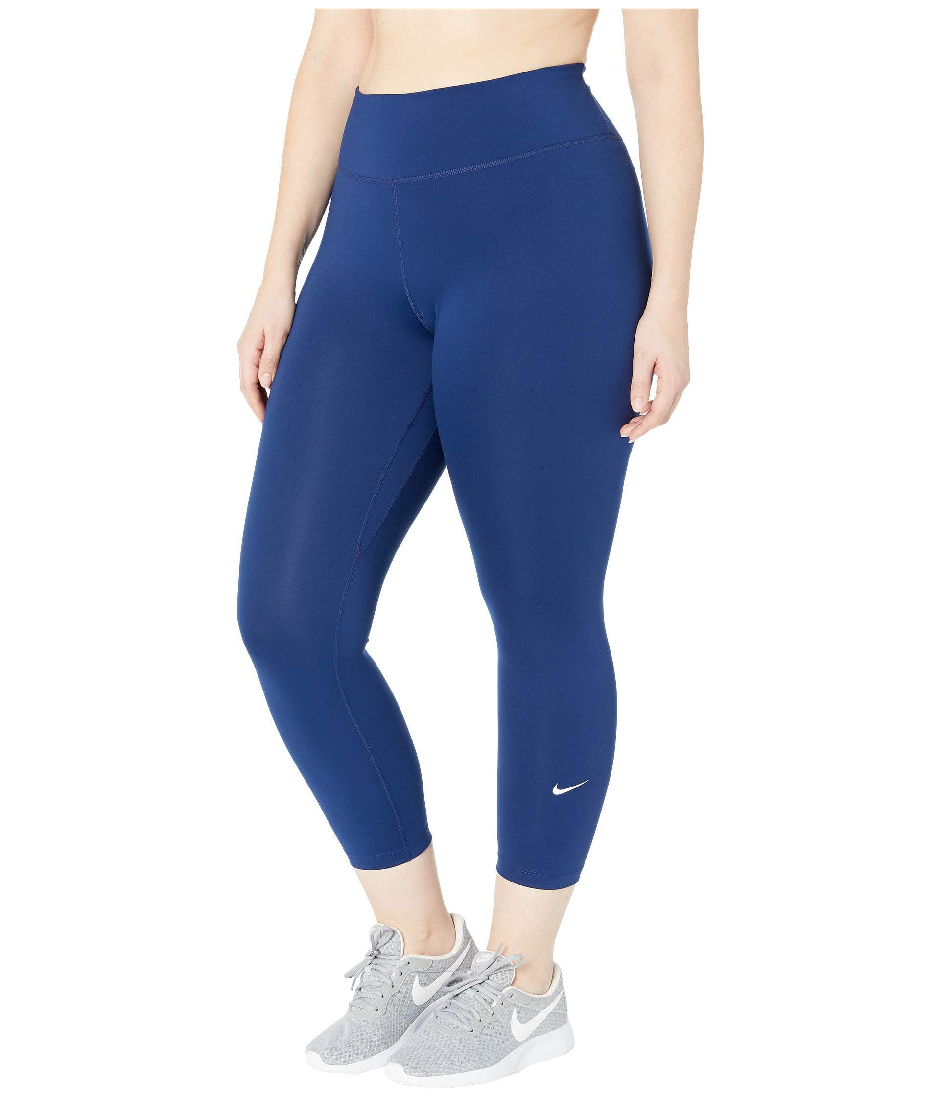 c878c7ac82843 Lyst - Nike One Crop Pants (sizes 1x-3x) (el Dorado/black) Women's Casual  Pants in Blue