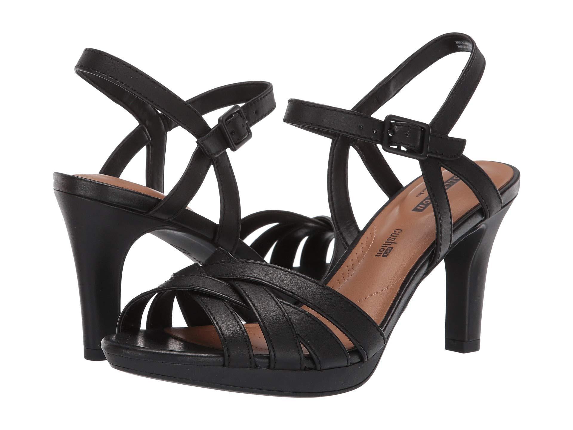 8f535c0c548 Lyst - Clarks Adriel Wavy (dusty Pink Leather) High Heels in Black