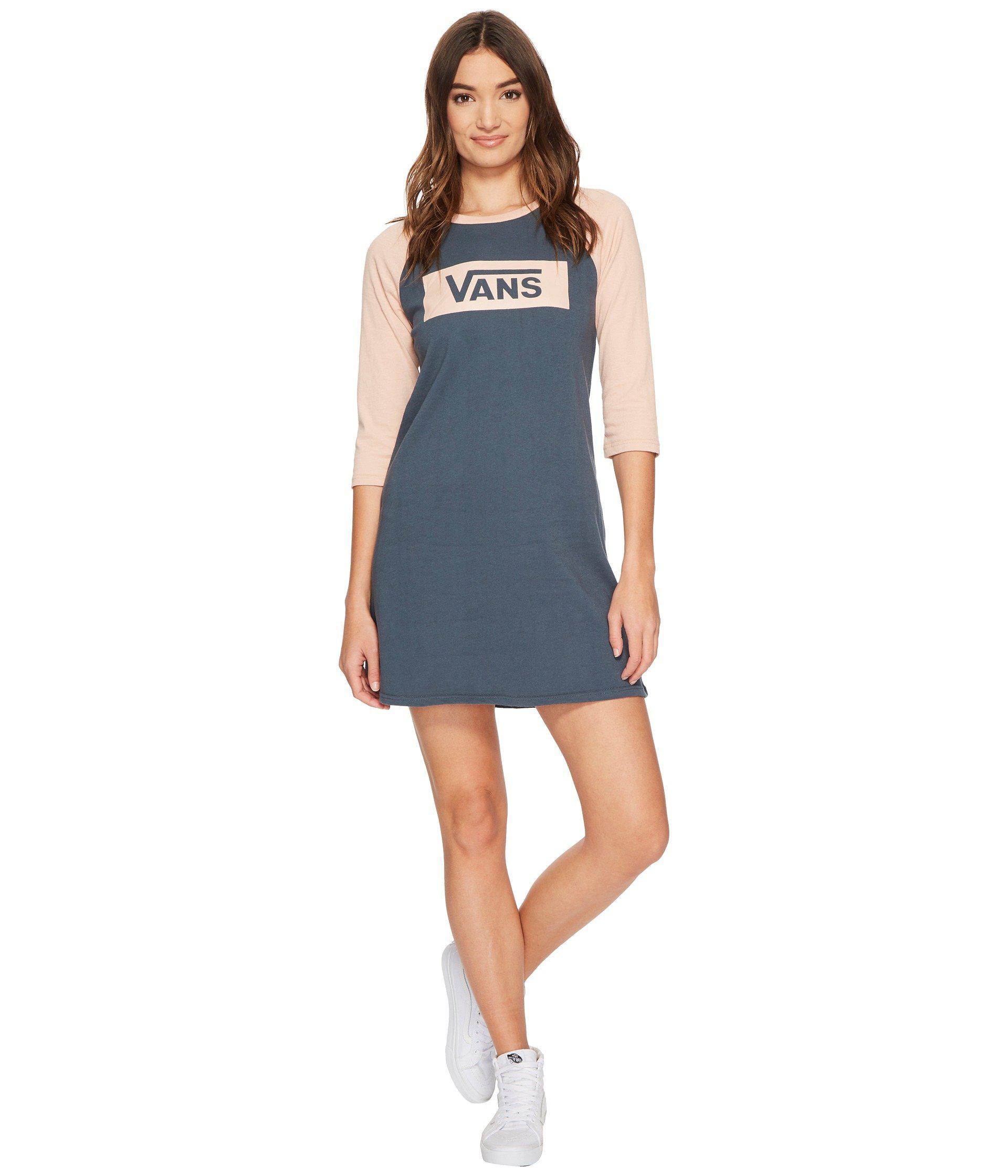 6c09f93f7d2 Vans Open Road Raglan Dress in Blue - Lyst