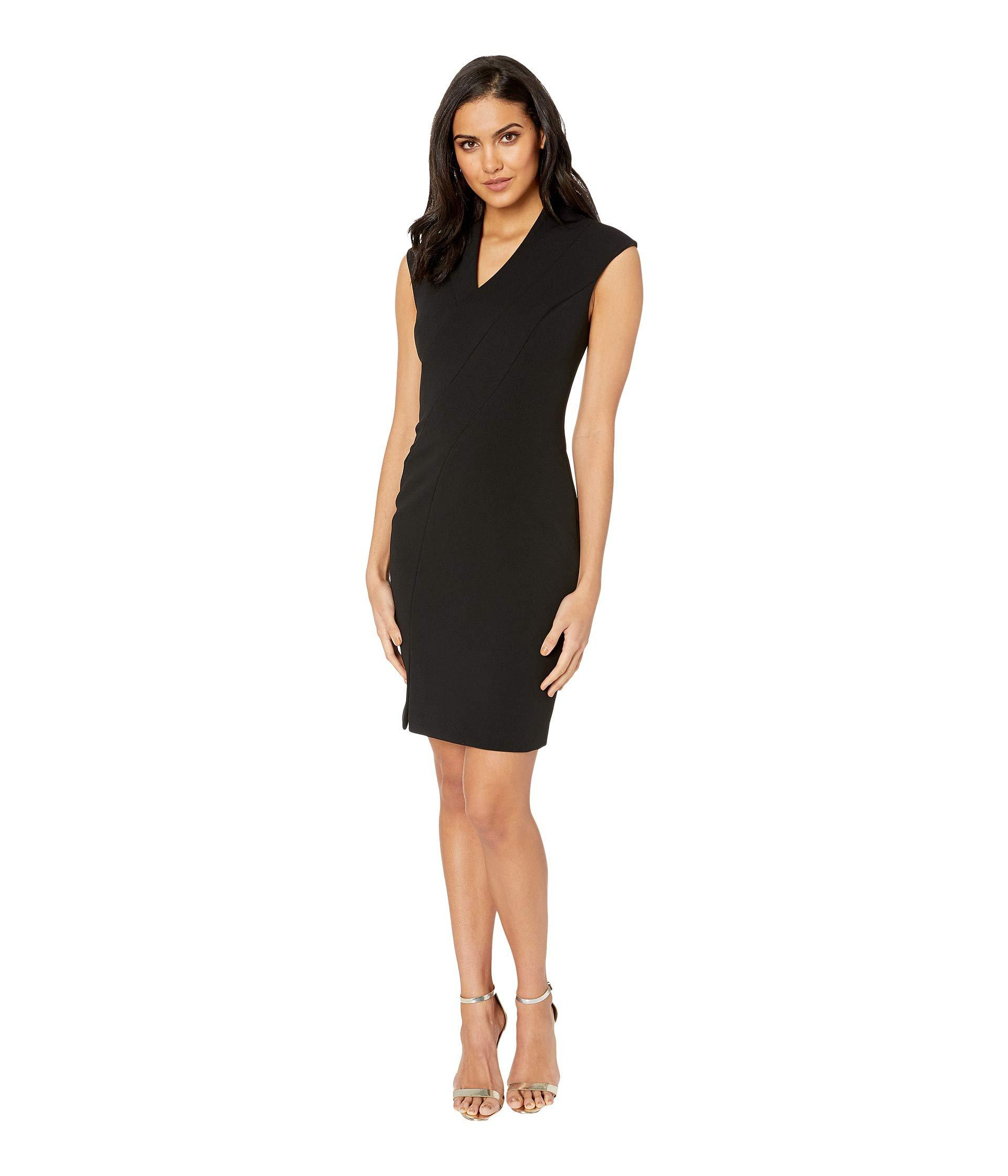 dee3d7a2998f Lyst - Ted Baker Geodese Narnia Wrap Front Pencil Dress (black ...