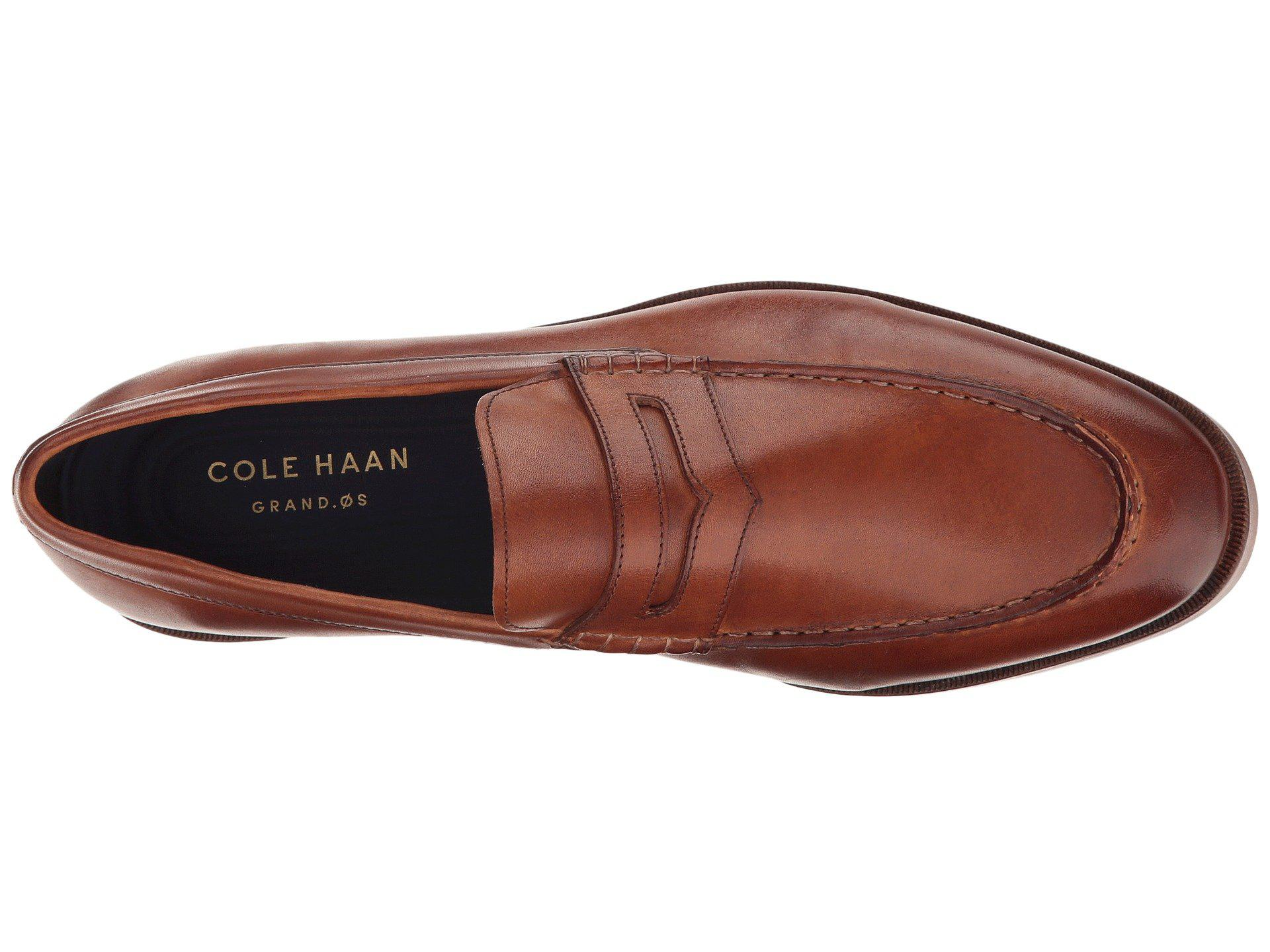 6ec2db1dbf3 Cole Haan - Brown Hamilton Grand Penny (british Tan) Men s Slip-on Dress.  View fullscreen