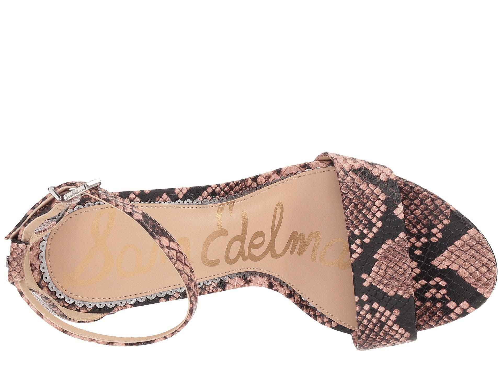 135966ef546e Lyst - Sam Edelman Yaro Ankle Strap Sandal Heel (baltic Navy Kid ...