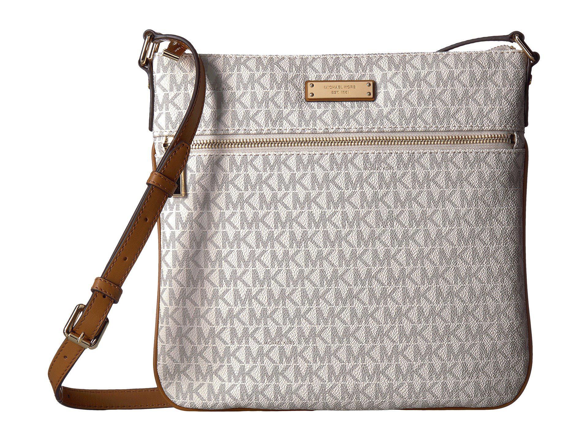 c7c39c0a48e6 MICHAEL Michael Kors. Women's Large Flat Crossbody (vanilla) Cross Body  Handbags
