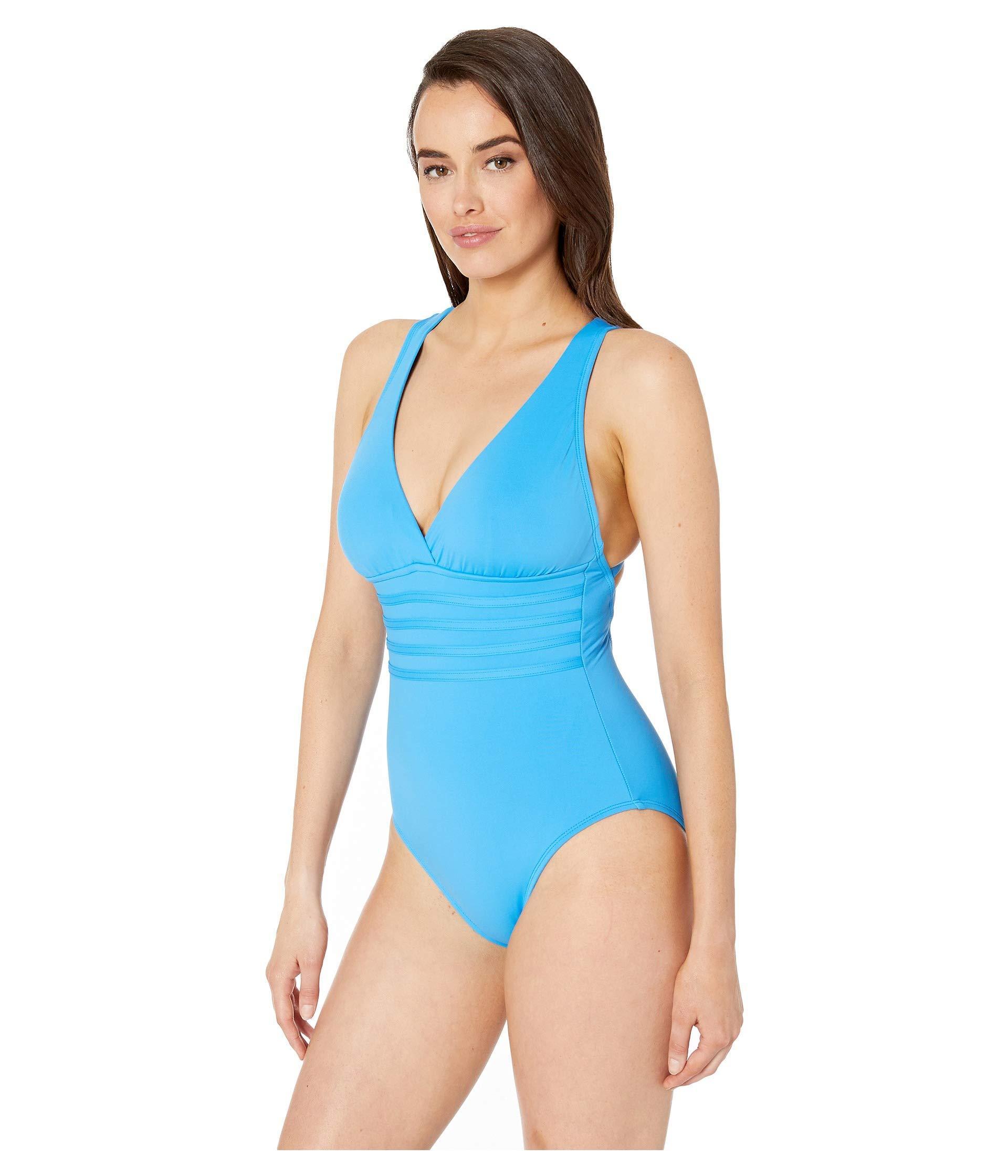 d0a8f392d1 Lyst - La Blanca Island Goddess Multi Strap Cross-back Mio One-piece  (chambray) Women's Swimsuits One Piece in Blue