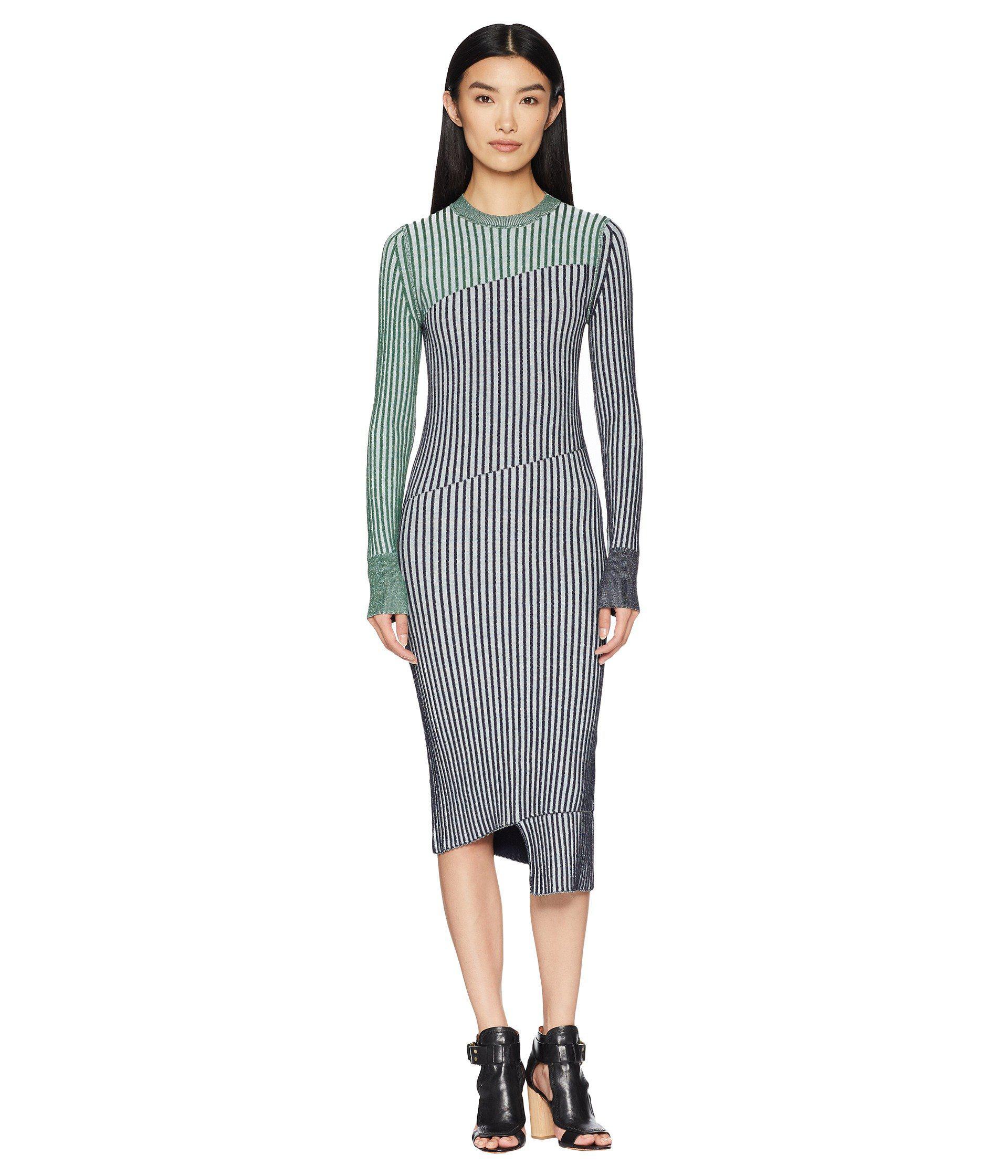Lyst Sportmax Fify Knit Long Sleeve Dress Green Women S Dress In
