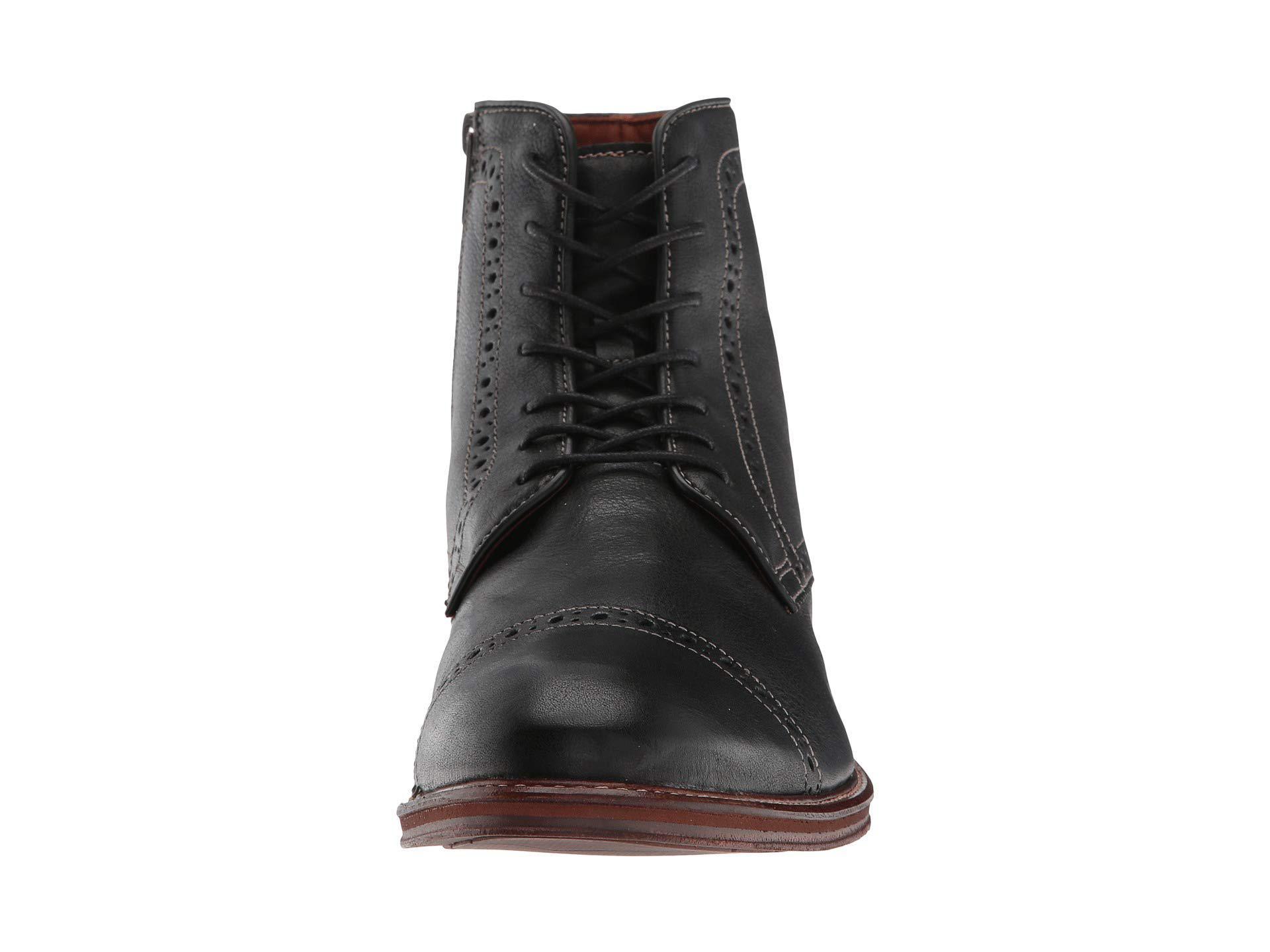 0afcac46a Johnston & Murphy Warner Cap Toe Zip Boot (black Full Grain) Men's ...