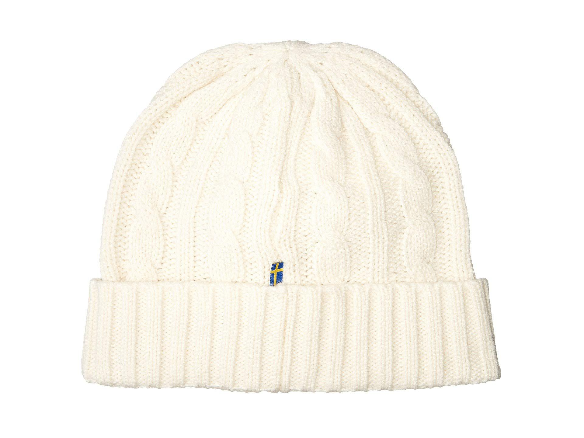 50a88a30cc887 Fjallraven Braided Knit Hat (frost Green) Caps in White - Lyst