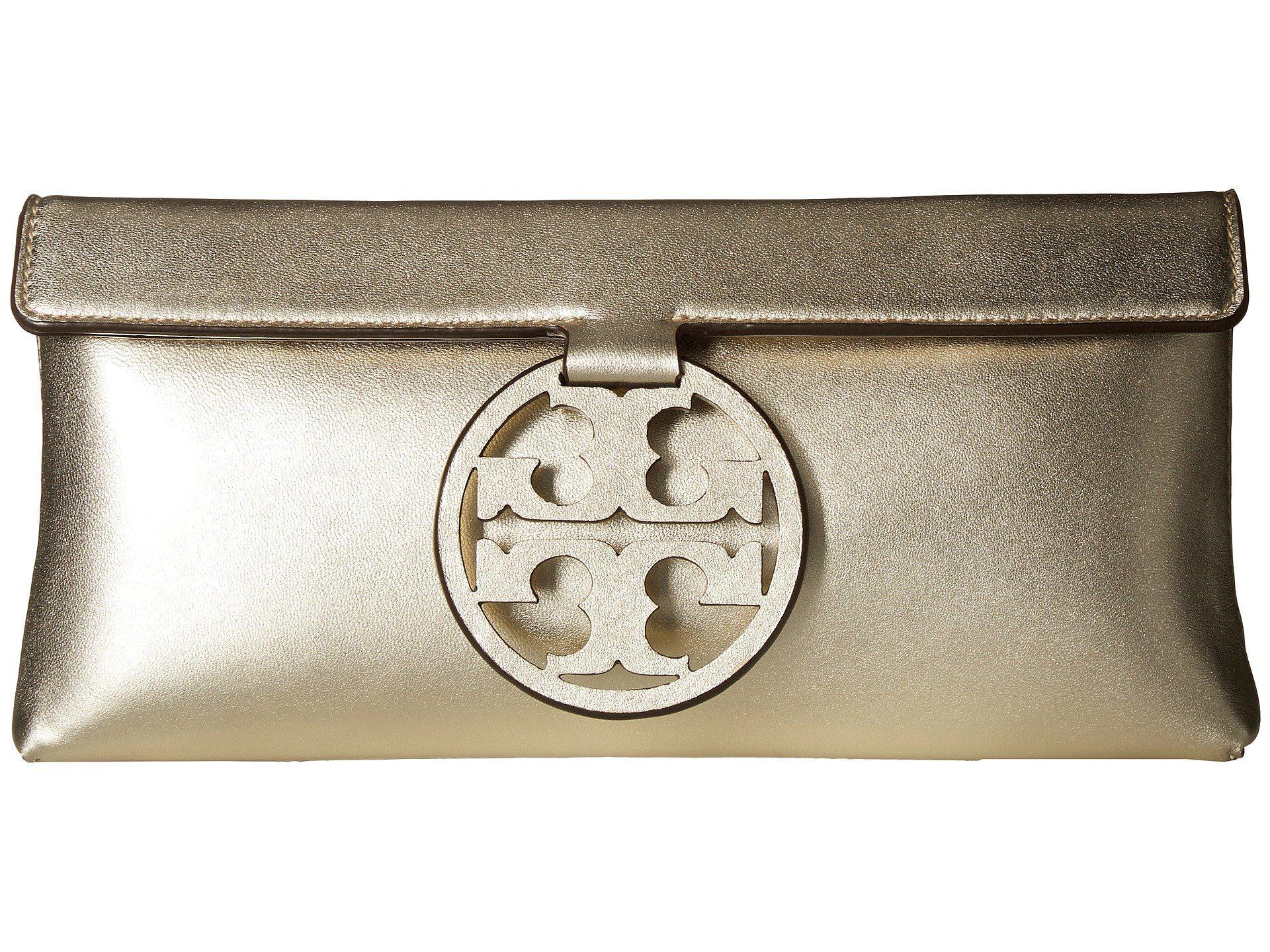 41ec9e5f301b Lyst - Tory Burch Miller Metallic Clutch (gold) Clutch Handbags in ...