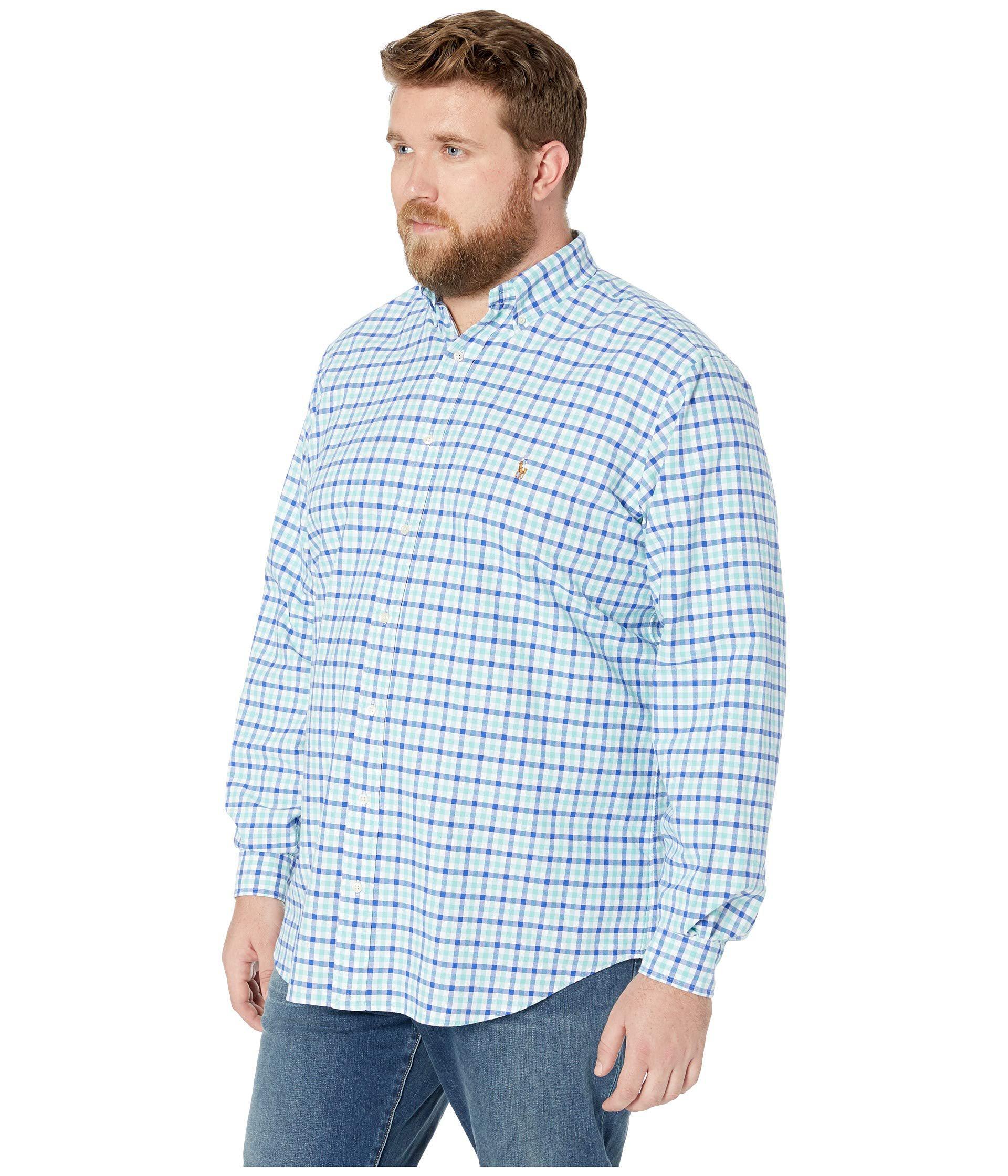 02406c135 Polo Ralph Lauren - Big Tall Oxford Long Sleeve Classic Fit Shirt  (seafoam/blue. View fullscreen