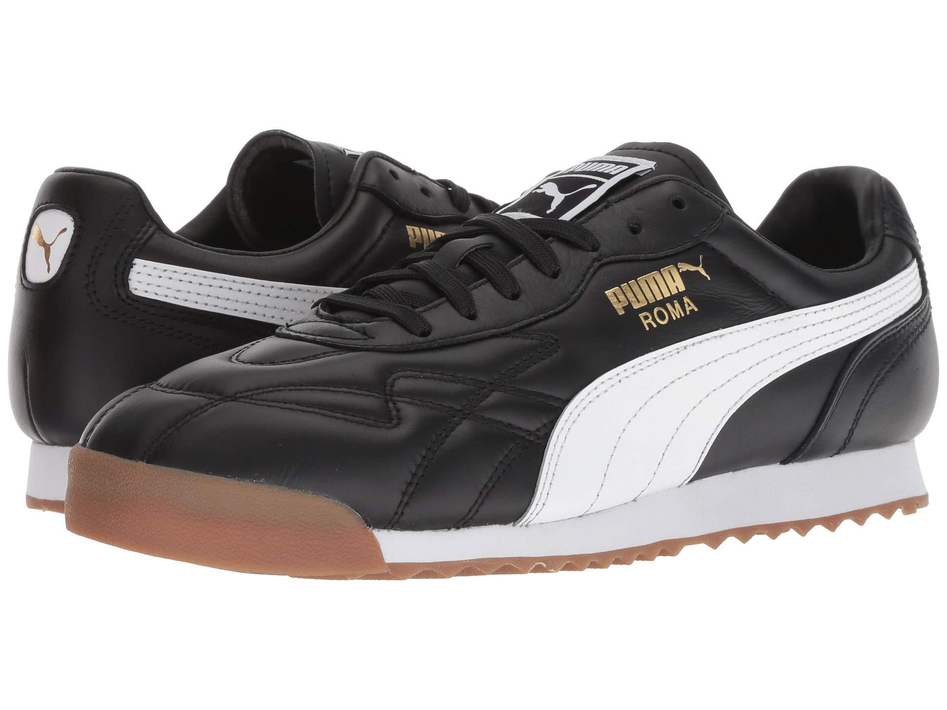 6db45bbb08e Lyst - Puma Roma Anniversario ( Black  White) Men s Lace Up Casual ...
