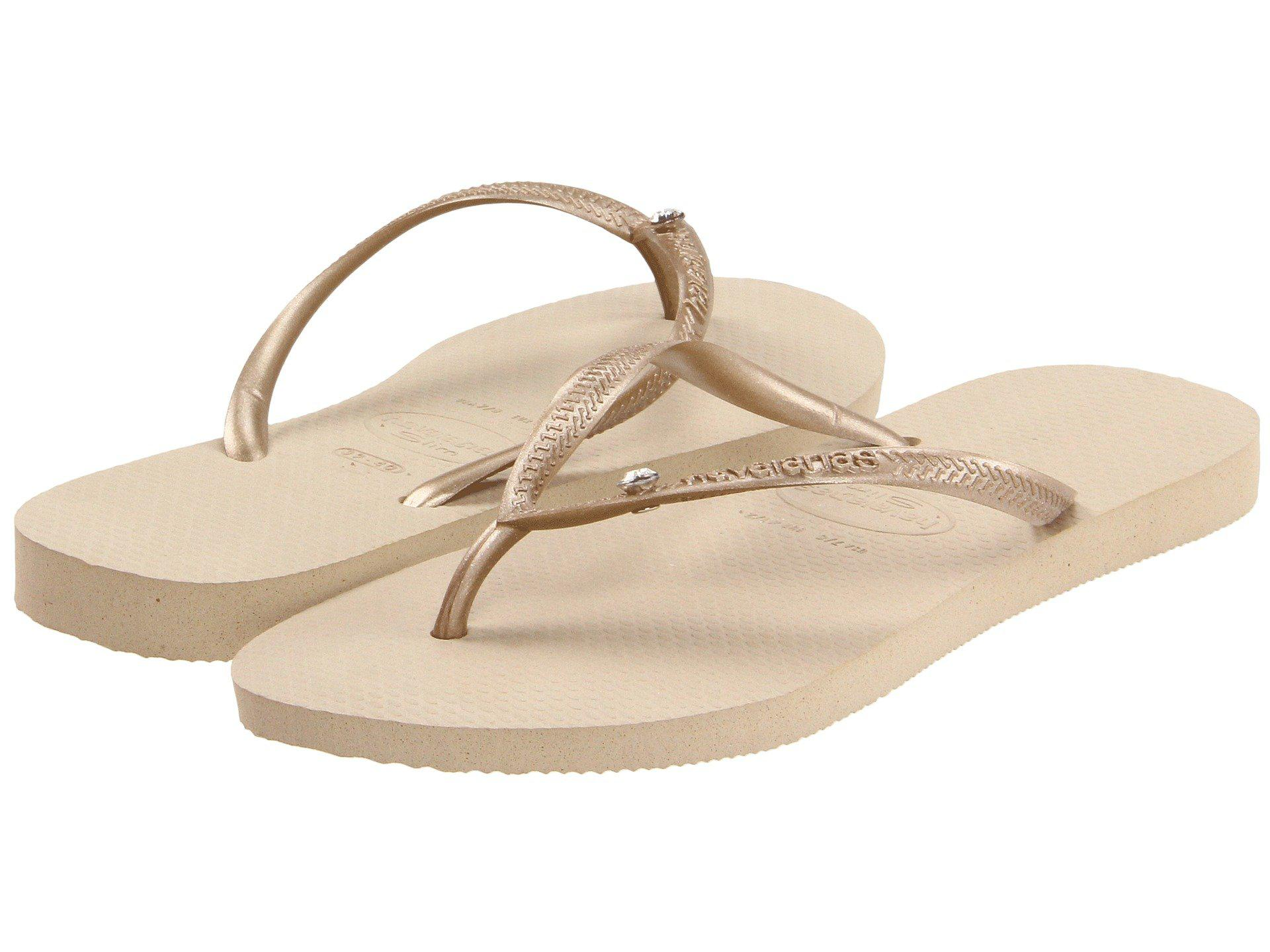 e2303d0ed336 Havaianas. Natural Slim Crystal Glamour Sw Flip Flops (black) Women s  Sandals
