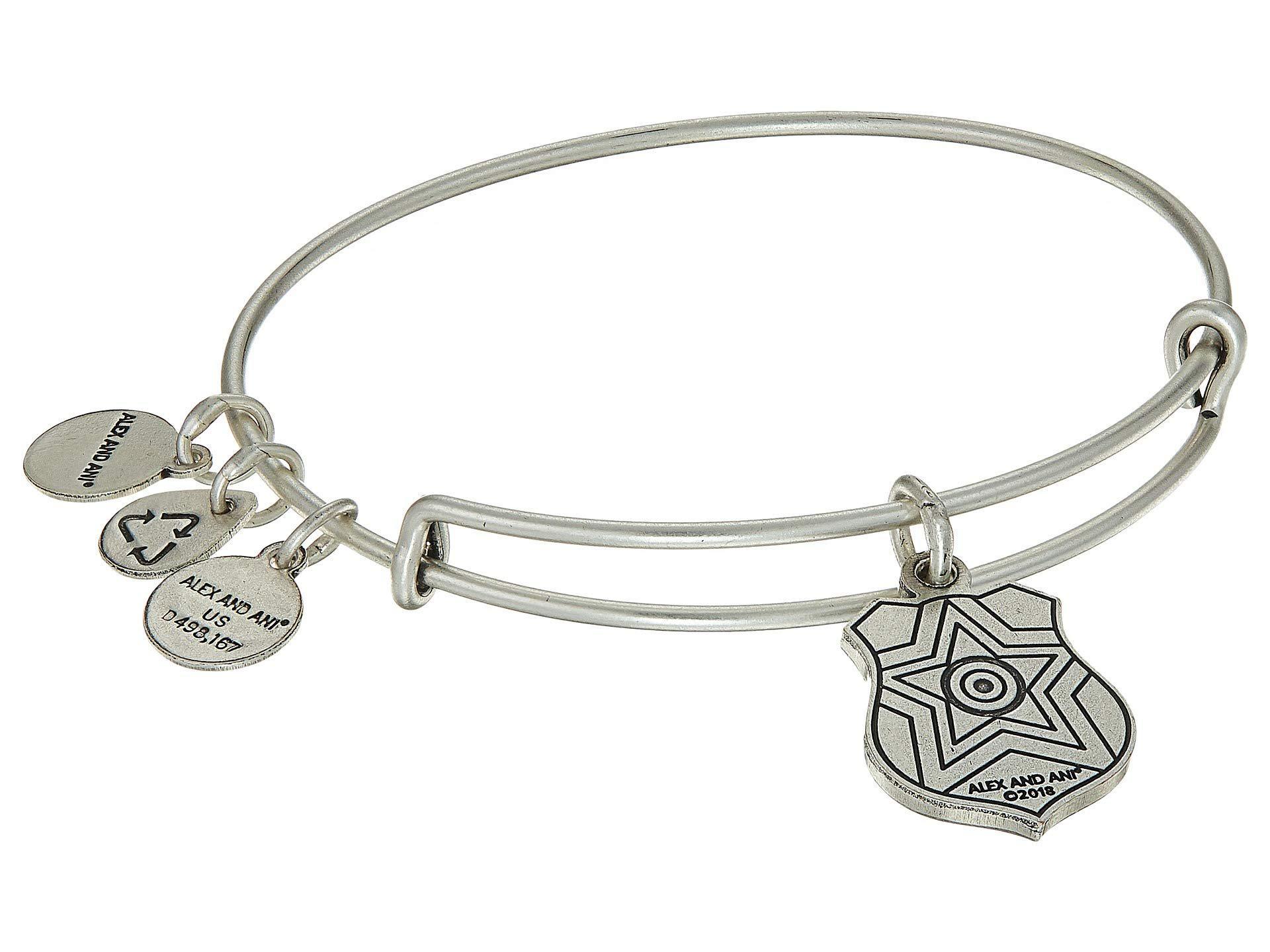 476b7b52abc43 ALEX AND ANI Law Enforcement Bangle (rafaelian Gold) Bracelet in ...