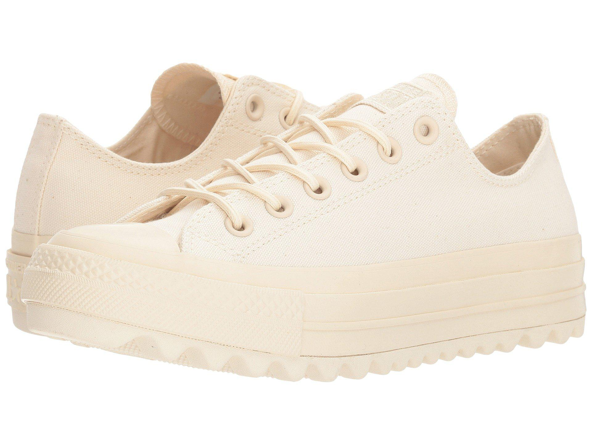 Womens CTAS Lift Ripple Ox Particle Beige Trainers Converse XhU4UbDs