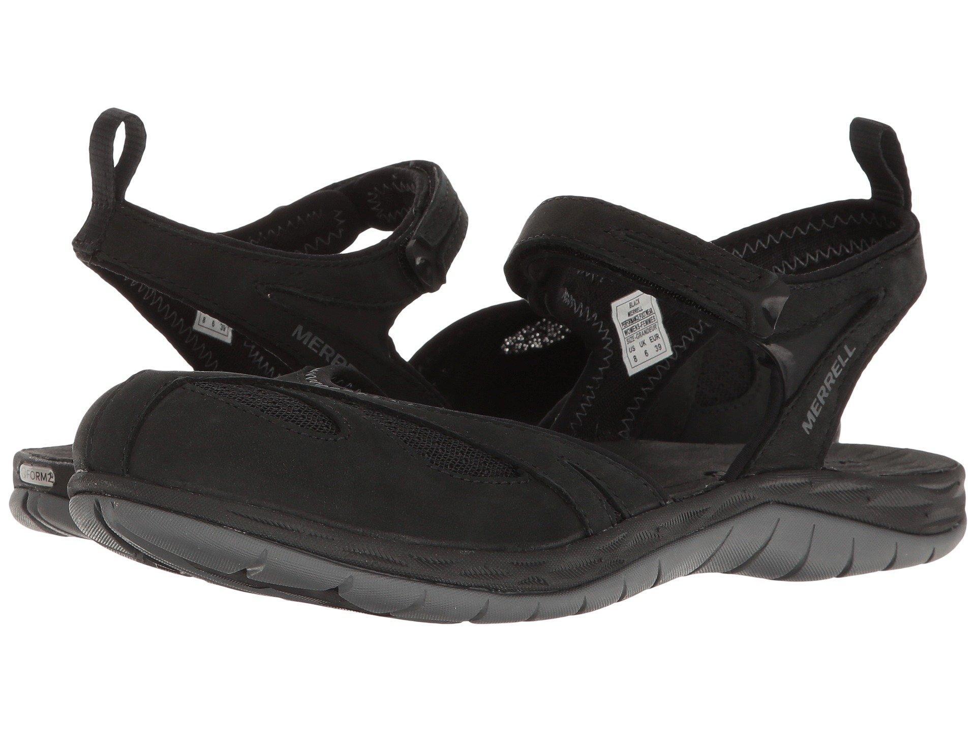 153d18f01619 Merrell - Black Women ́s Siren Wrap Q2 Sandals - Lyst. View fullscreen