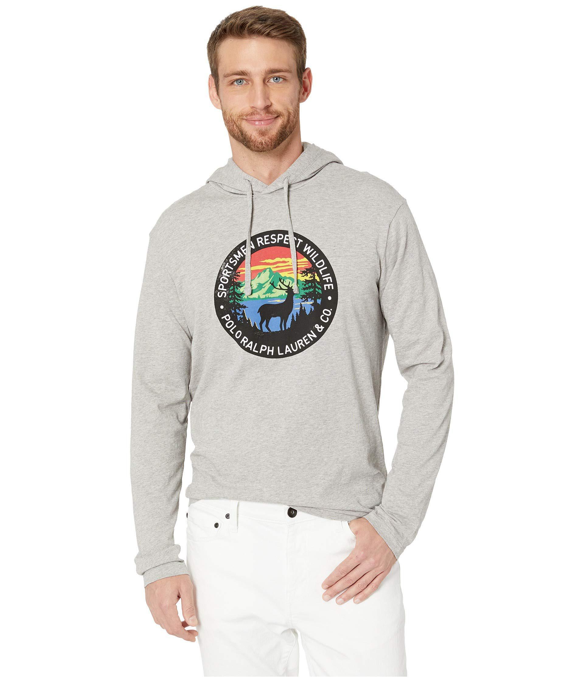 f4ec21f087c5 Polo Ralph Lauren. Gray 26 1 Jersey Long Sleeve T-shirt Hoodie (salf And  Pepper Heather) Men s ...