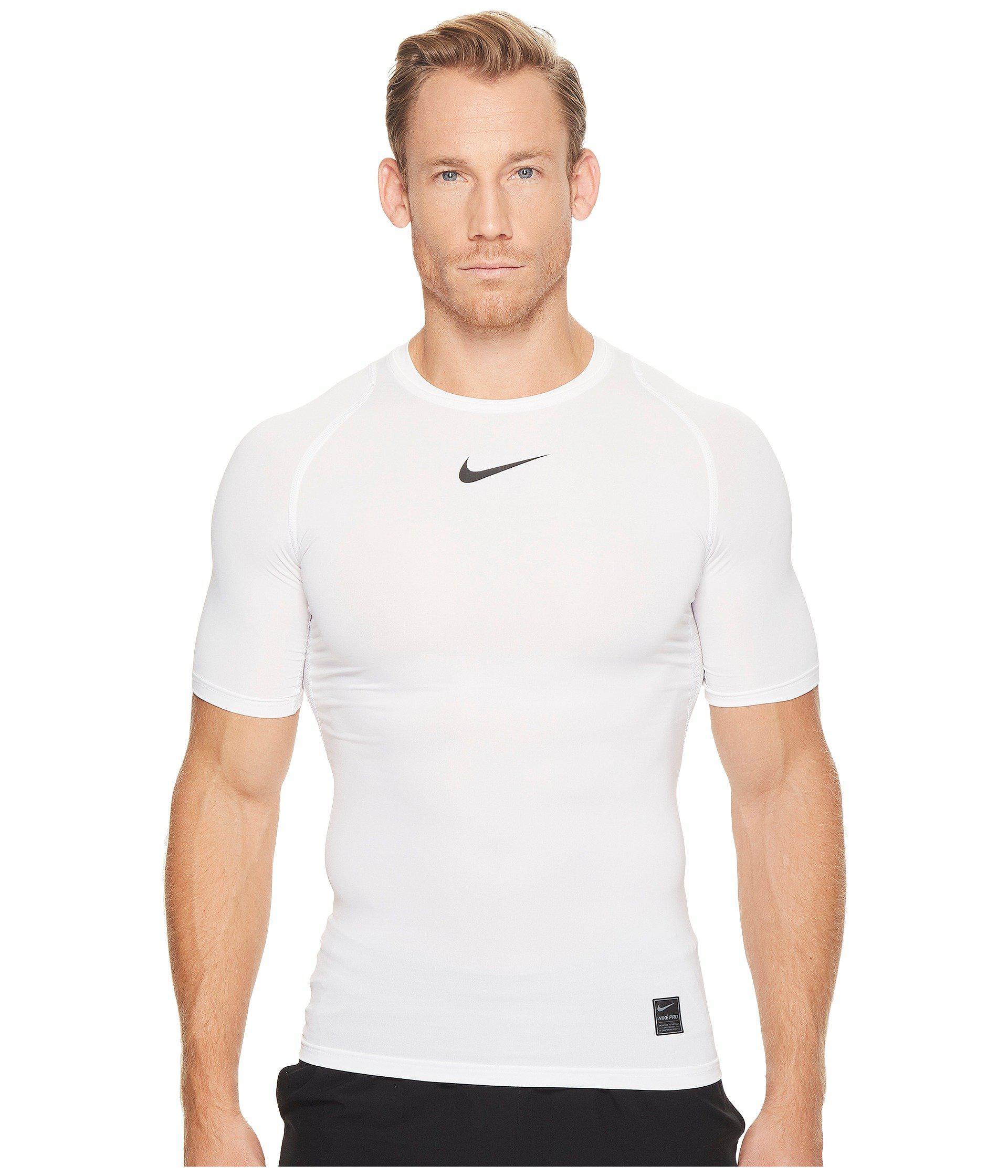 76d76cbd Nike. Pro Compression Short Sleeve Training Top (black/white/white) Men's  ...